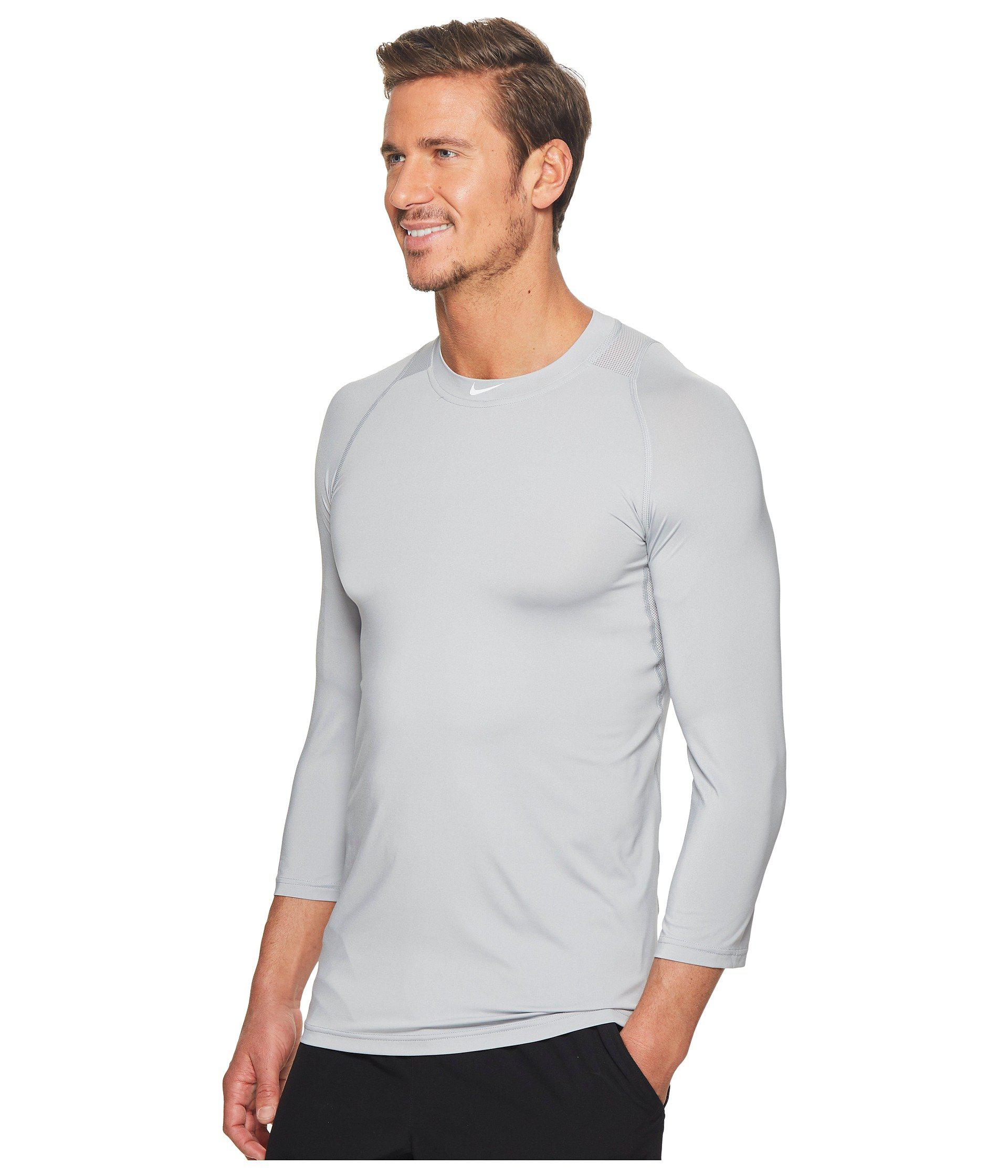 f6697db4 Lyst - Nike Pro 3/4 Sleeve Baseball Top (wolf Grey) Men's Clothing in Gray  for Men - Save 26%