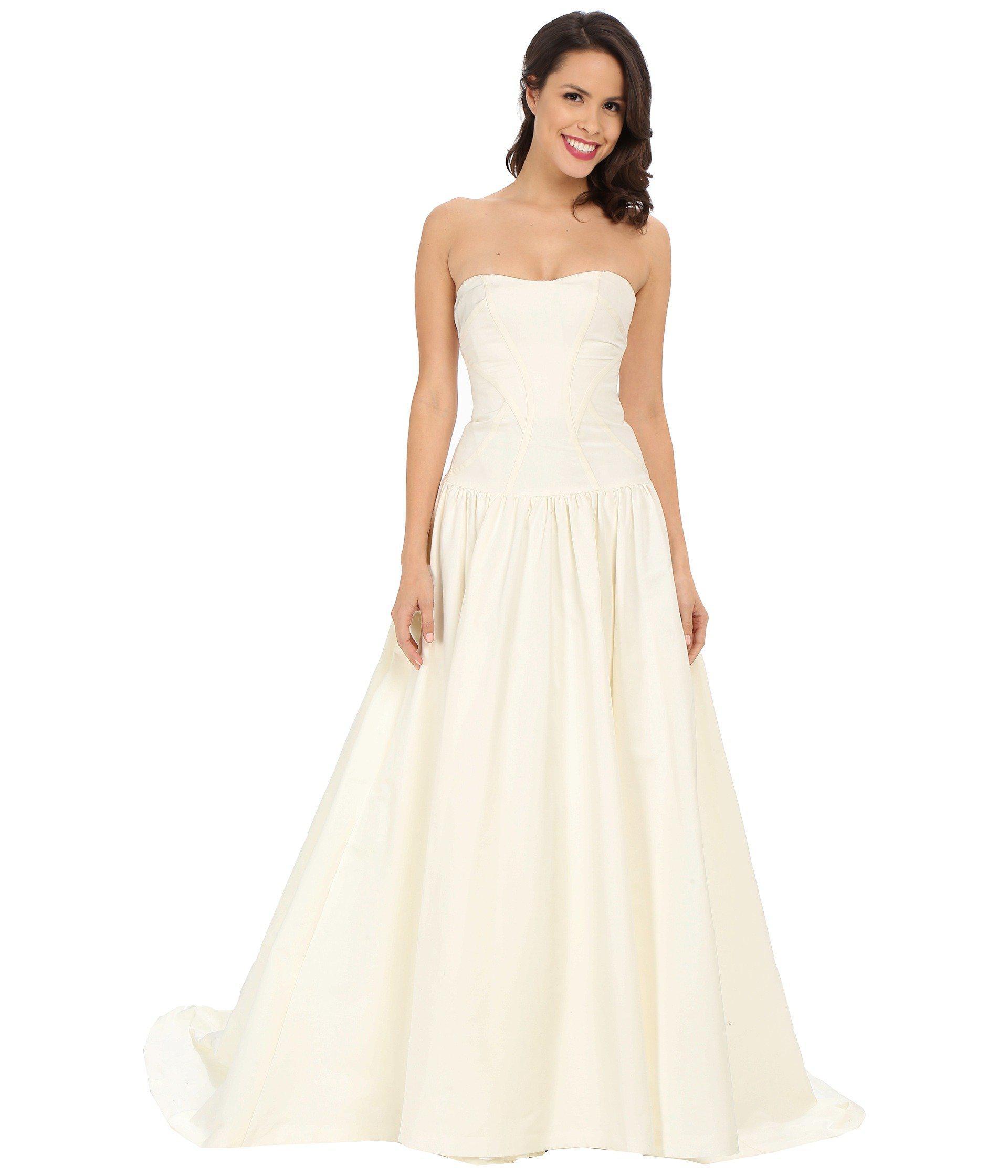 e49d9b8831 Nicole Miller Laurel Silk Faille Bridal Gown (antique White) Women s ...