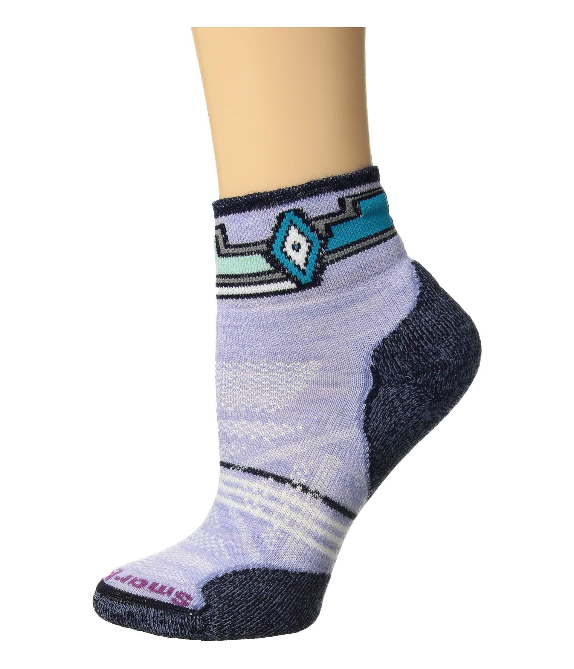 786462a06 Smartwool. Phd Outdoor Light Pattern Mini (purple Mist) Women's Crew Cut  Socks Shoes