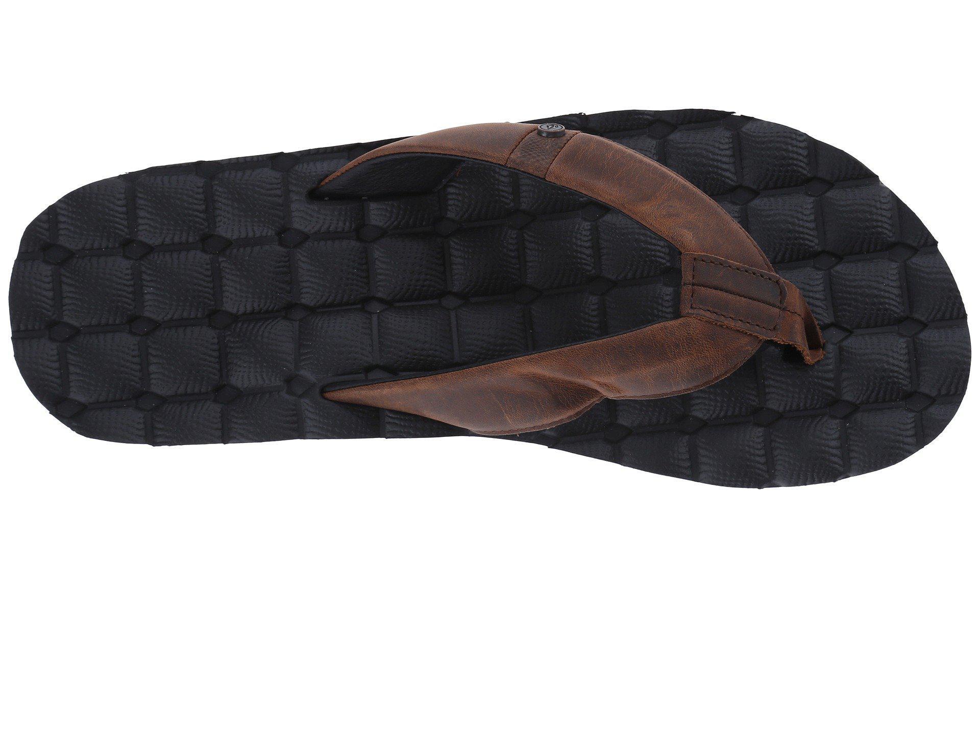 96484622f64a Volcom - Recliner Leather (vintage Brown) Men s Sandals for Men - Lyst.  View fullscreen