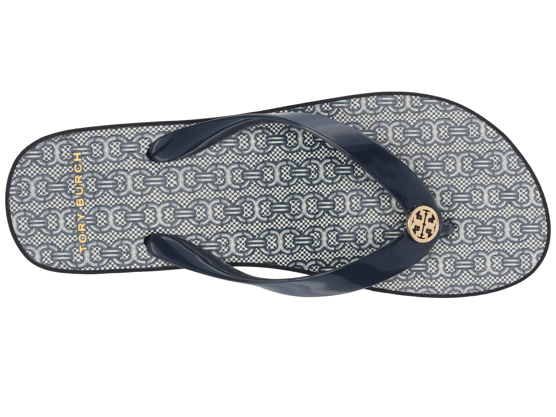 cb4bfab4c848 Lyst - Tory Burch Cut Out Wedge Flip-flop (tory Navy navy Gemini ...