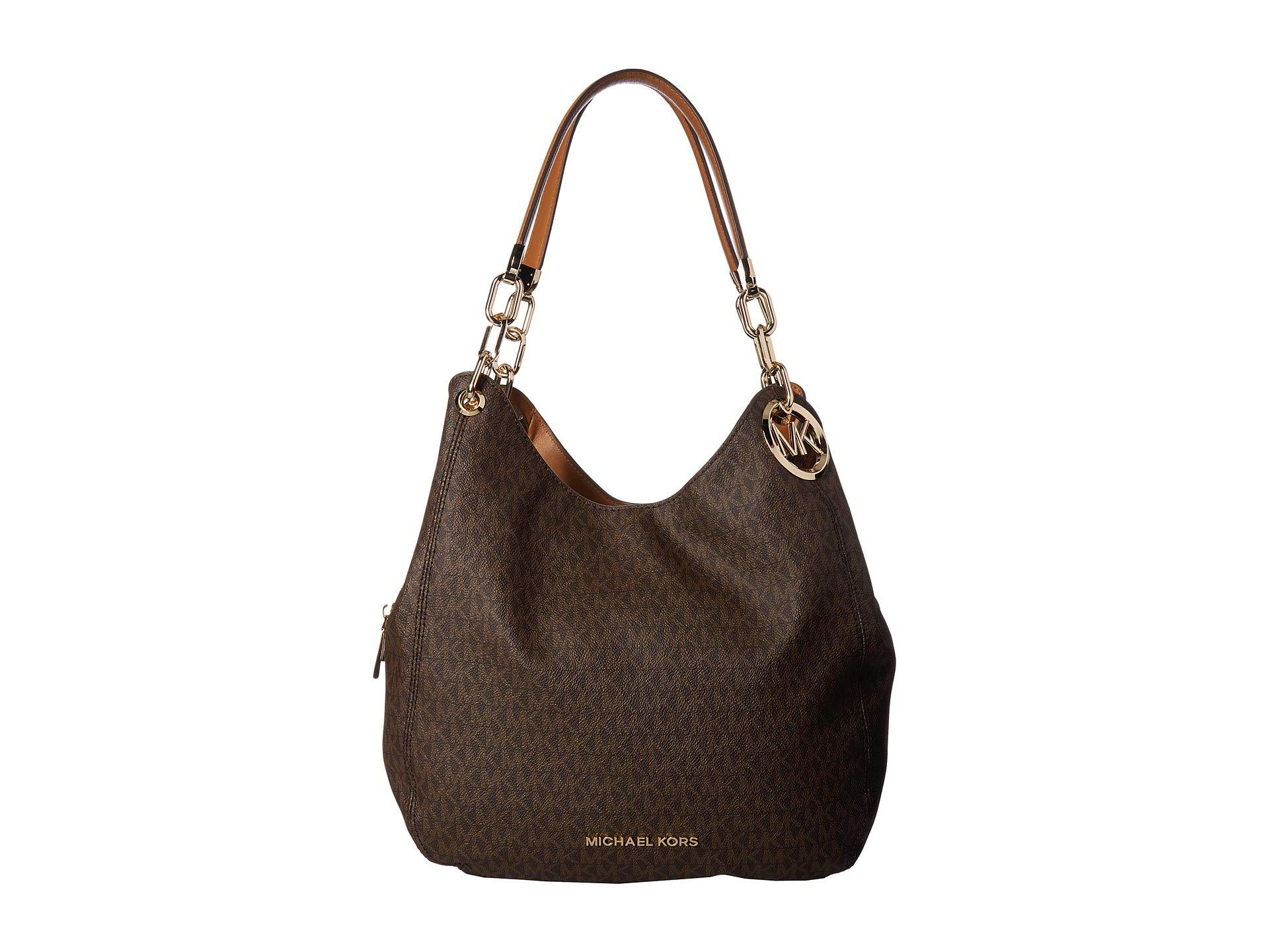 298130658b402b MICHAEL Michael Kors - Brown Lillie Large Chain Shoulder Tote (vanilla/acorn)  Tote. View fullscreen