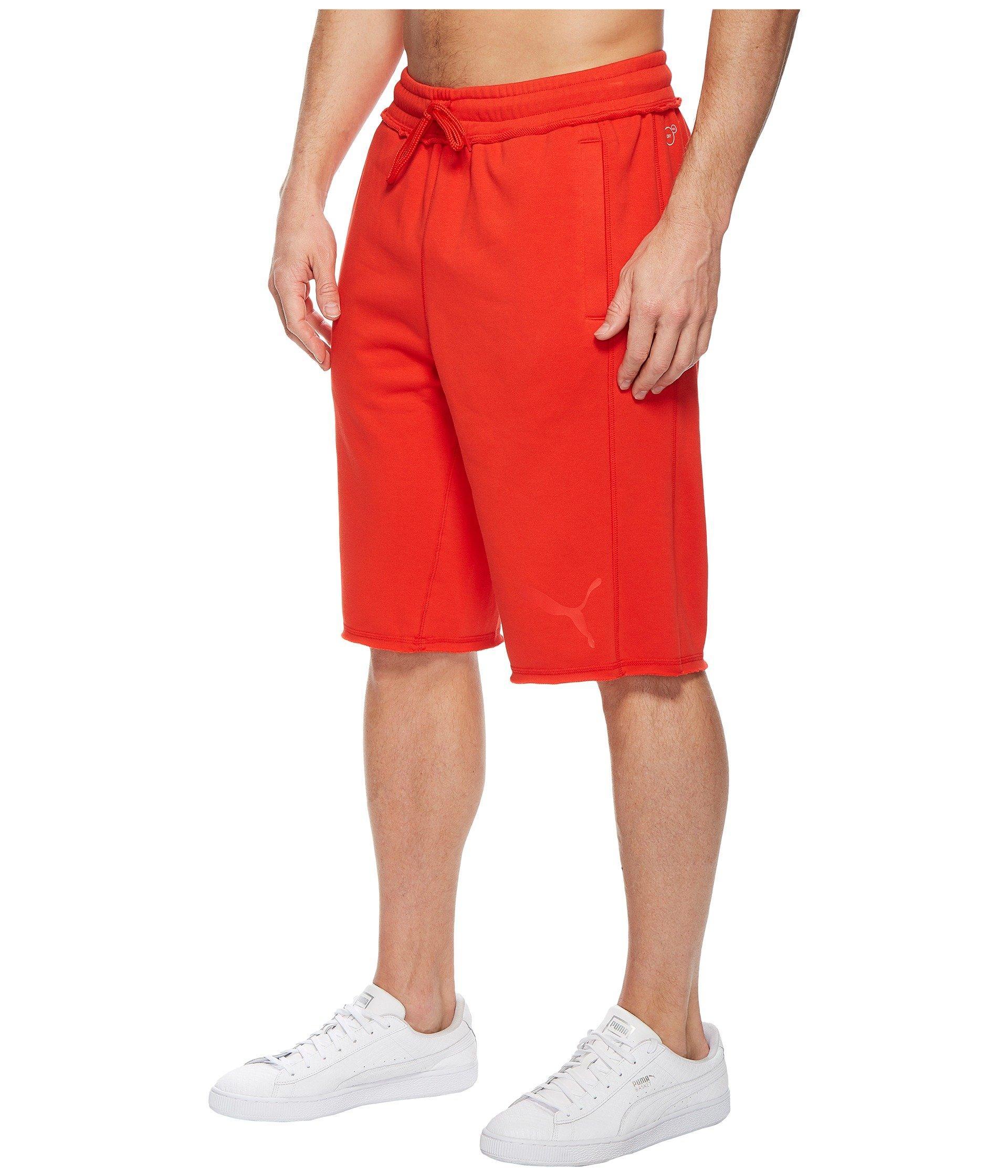 c98f7b20cecd Lyst - PUMA 12 Sweat Bermuda (surf The Web  Black) Men s Shorts in Red for  Men