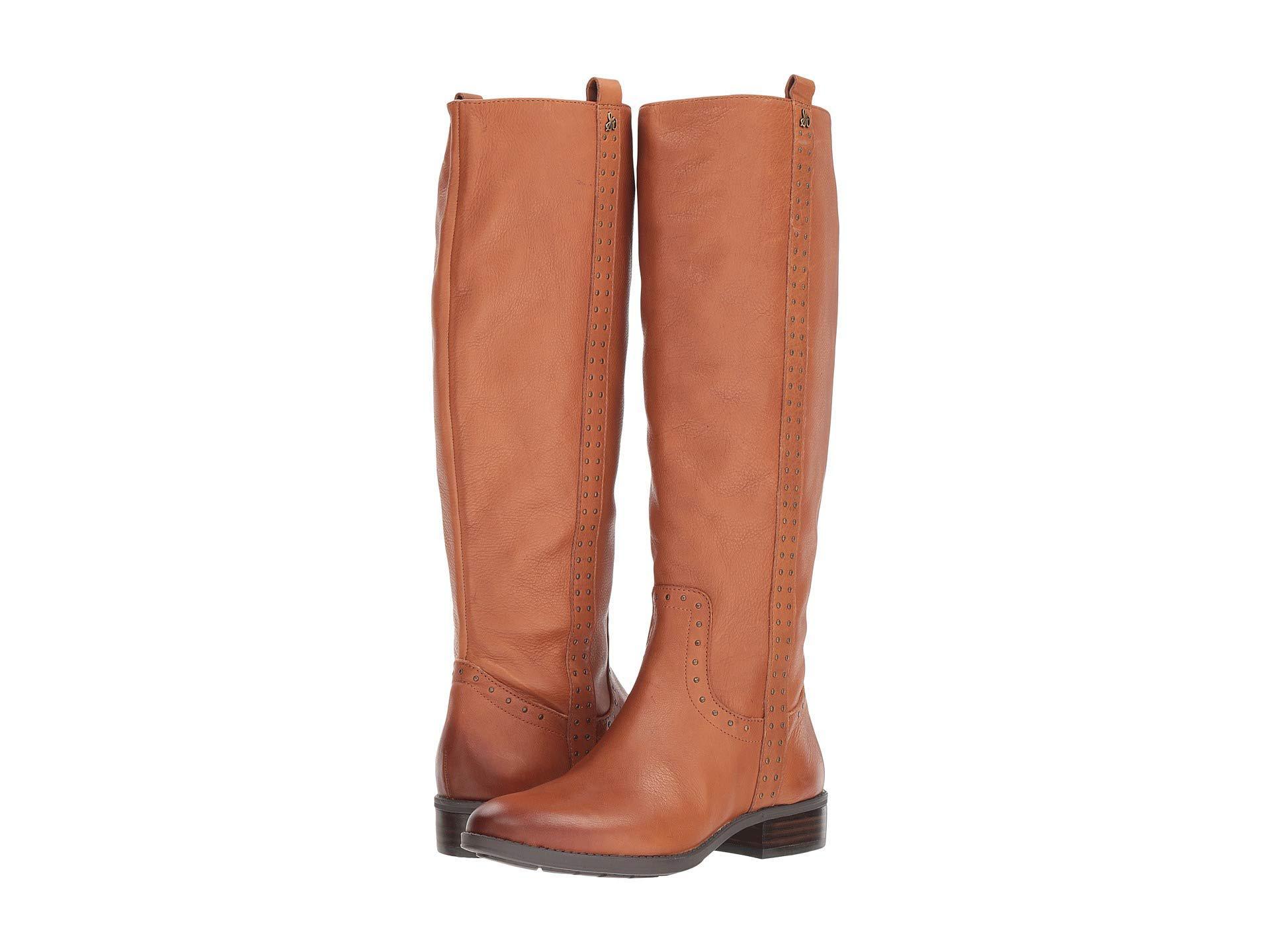 e4505f7bd05 Lyst - Sam Edelman Prina Wide Calf Leather Tall Boot (whiskey Neymar ...
