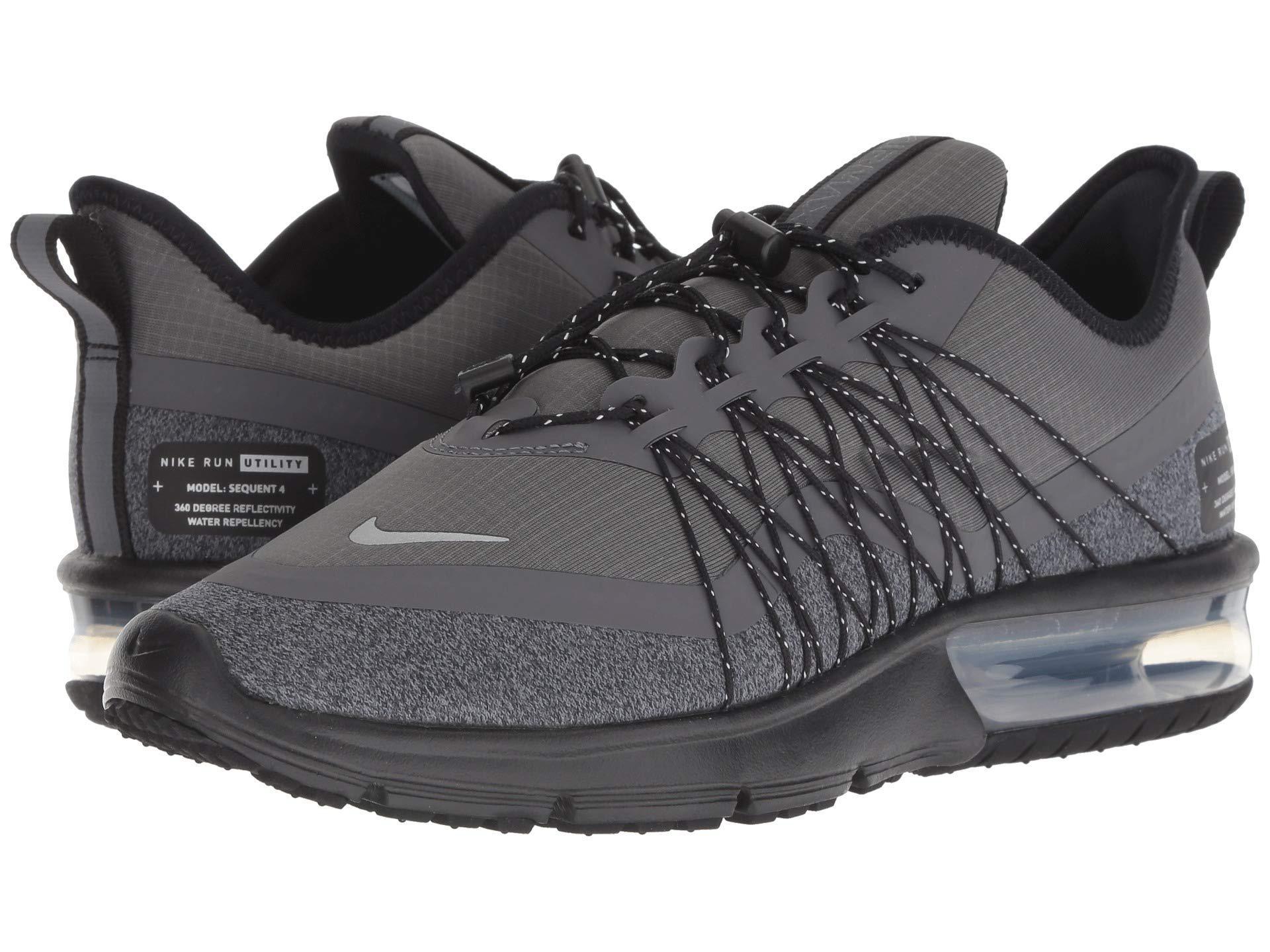the best attitude f08f9 64321 Nike. Air Max Sequent 4 Shield (dark Grey metallic Silver black) Women s Running  Shoes