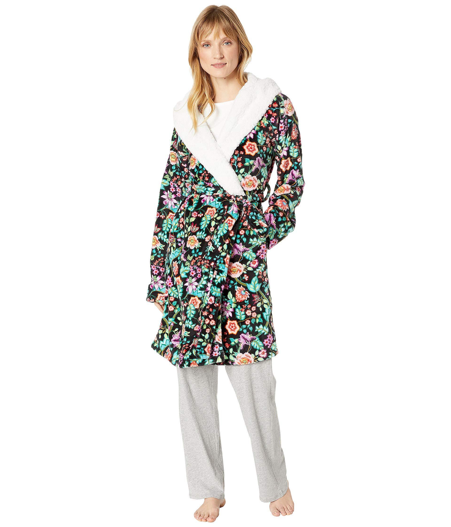 6db8e9622f Lyst - Vera Bradley Hooded Fleece Robe (vines Floral) Women s Robe