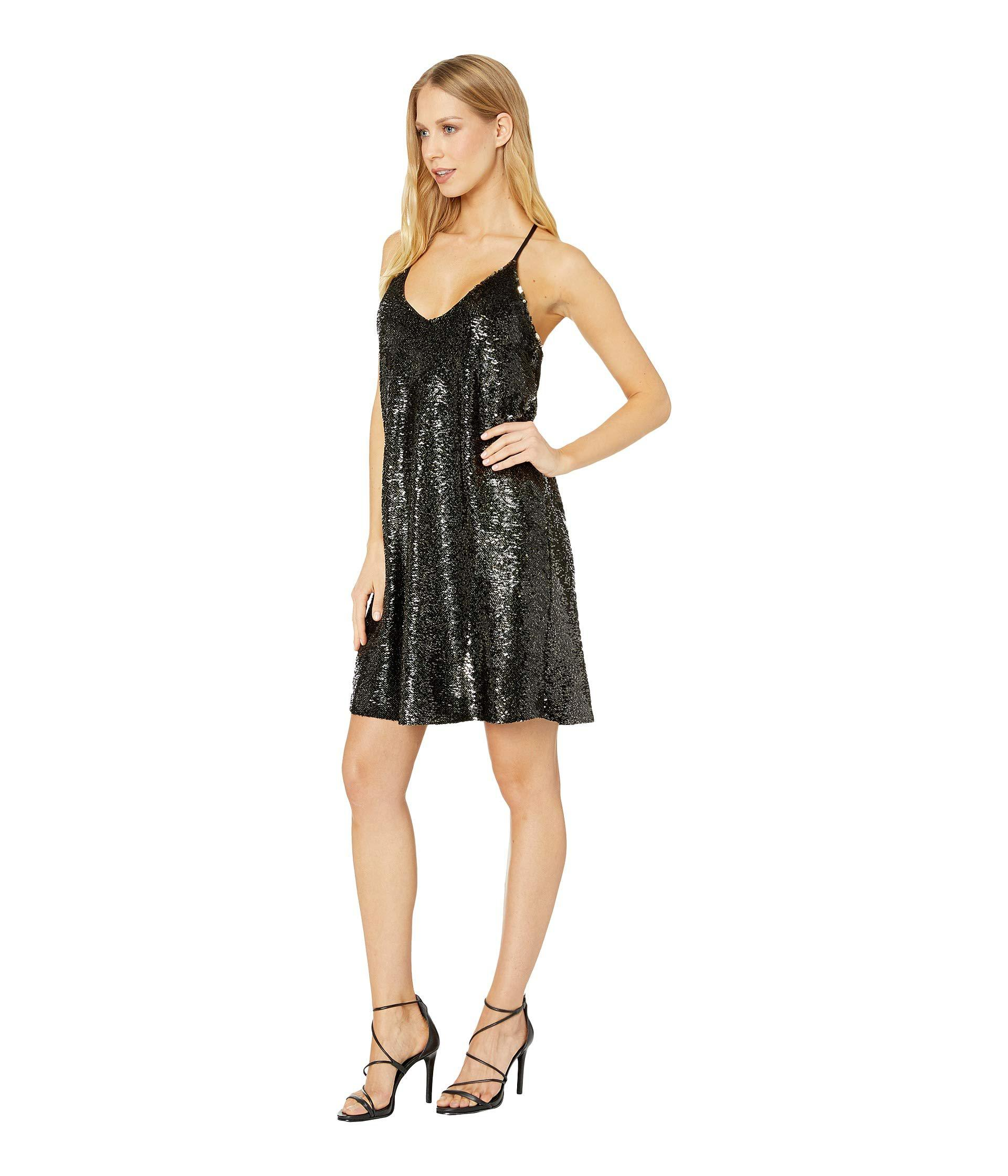 Lyst Bishop Young After Hour Sequin Mini Dress Blackgold