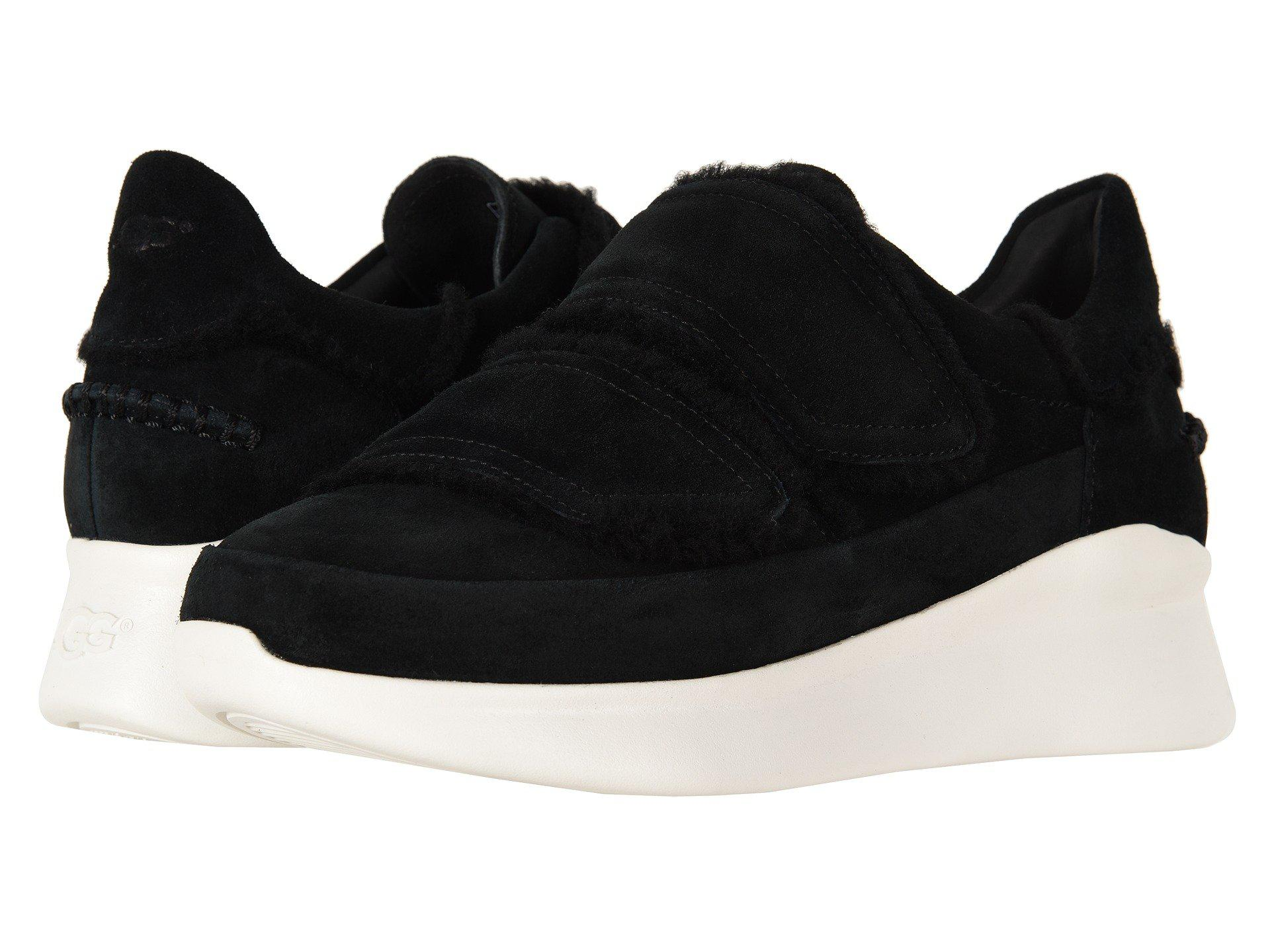 d2ad7ad5a9 UGG Ashby Spill Seam Sneaker (black) Women's Hook And Loop Shoes in ...