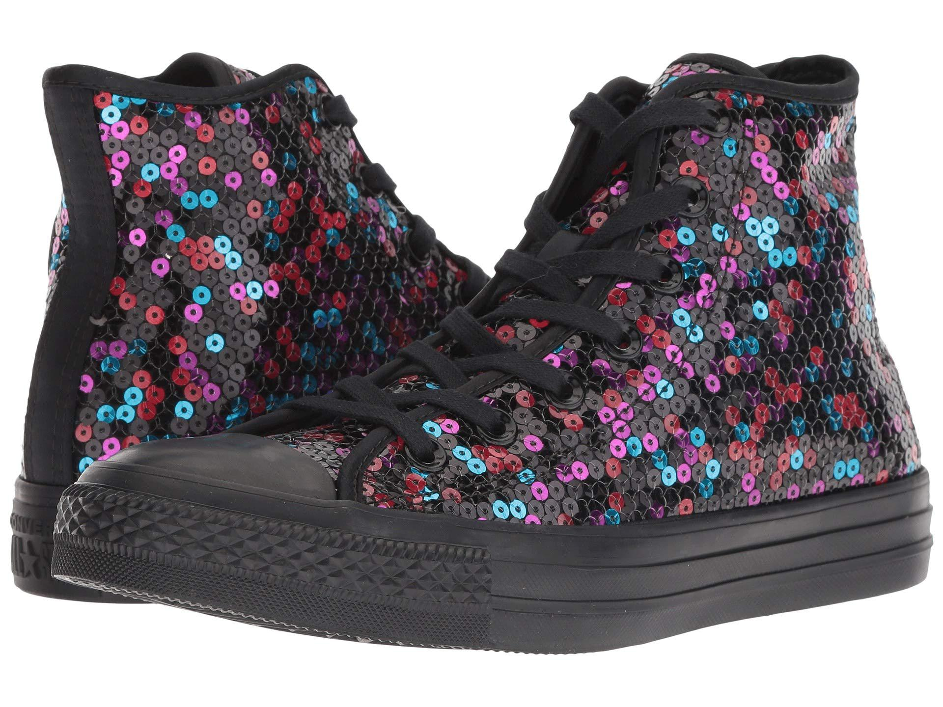 31db324322c12 Converse Chuck Taylor All Star Sequined - Hi (black blue cherry Red ...