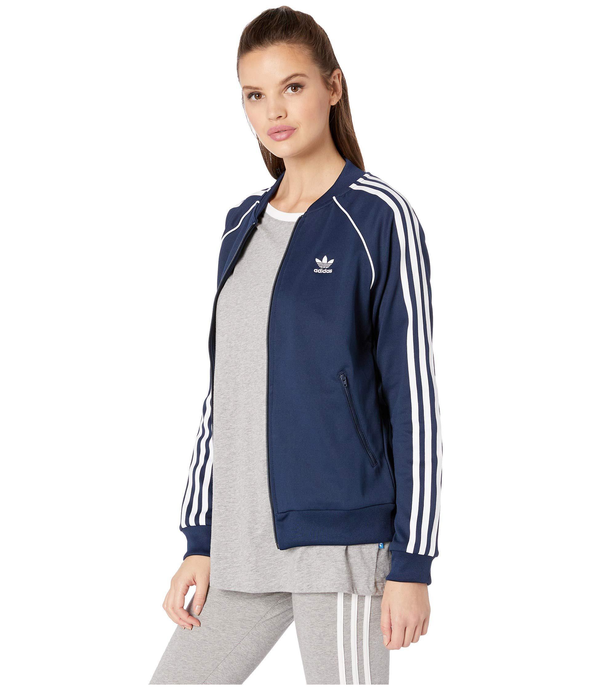 69cb0d45853 Lyst - adidas Originals Sst Track Jacket (black) Women s Coat in Blue