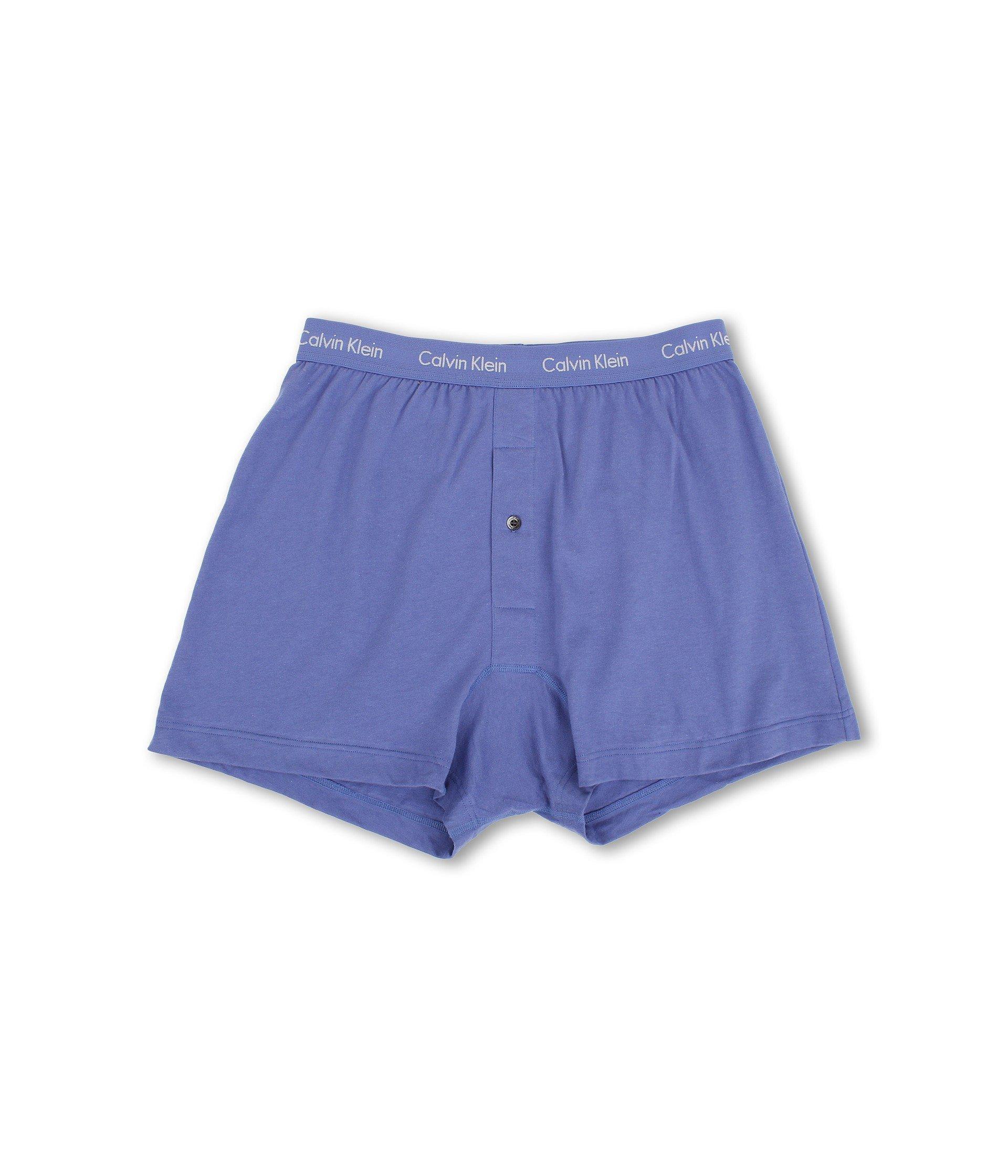047ffd8d23 Calvin Klein - Blue Cotton Classic Knit Boxer 3-pack Nu3040 (black) Men s.  View fullscreen