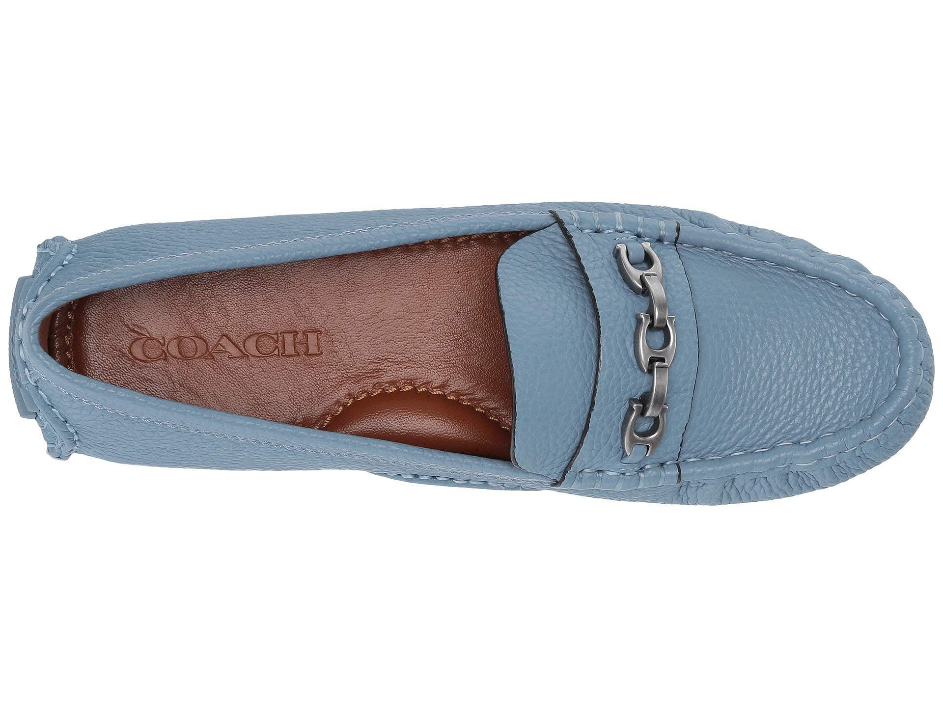 d7c66c28d29 COACH - Blue Crosby Driver (chalk Leather) Women s Slip On Shoes - Lyst.  View fullscreen