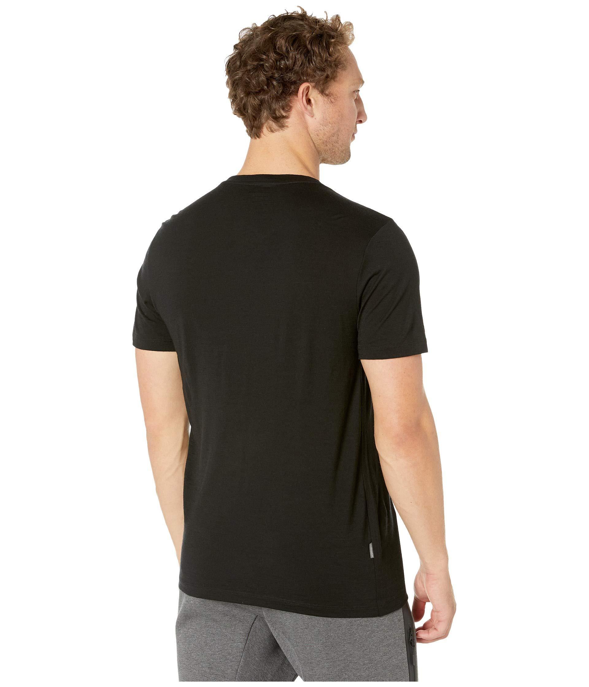 19f9addc Icebreaker - Black Tech Lite Short Sleeve Crewe (gritstone Heather 1) Men's  Clothing for. View fullscreen