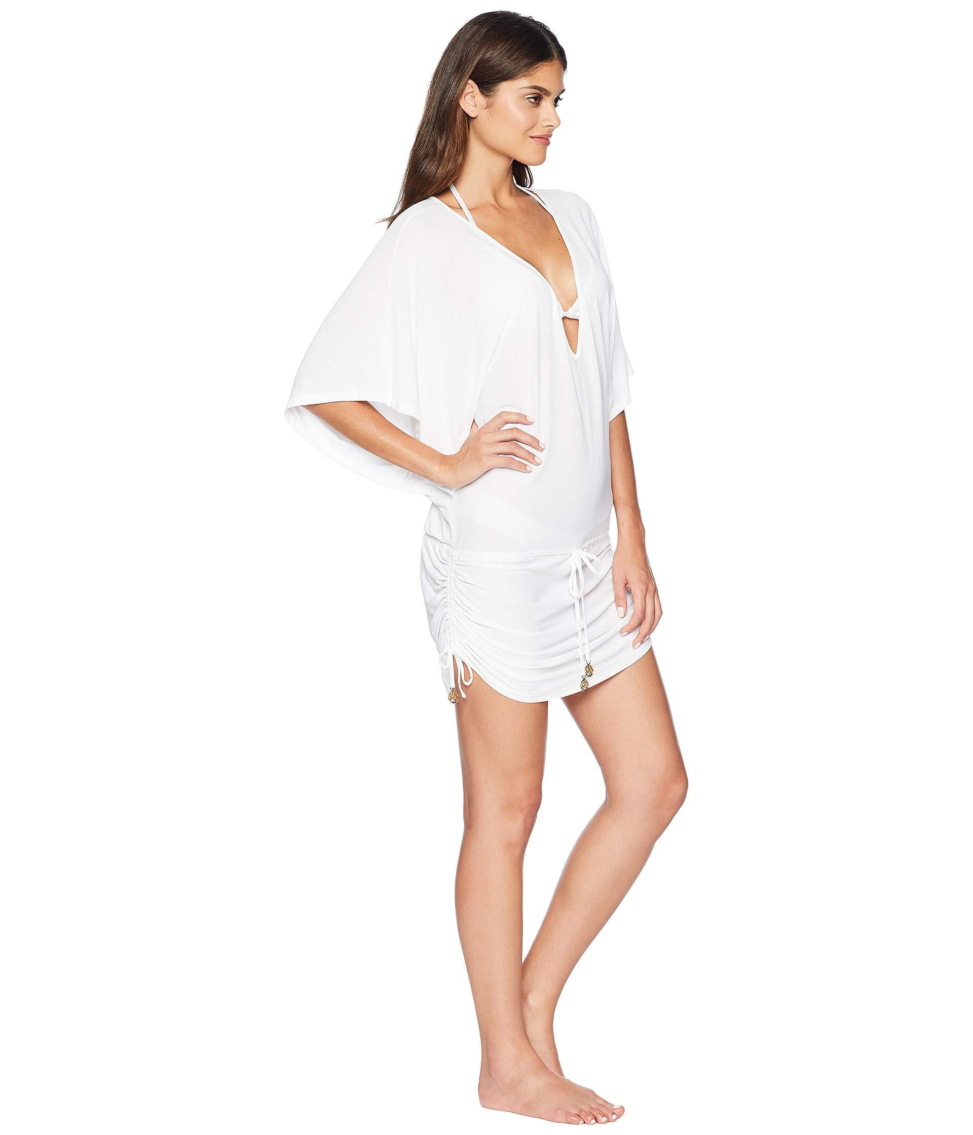 eef4d94f67 Luli Fama - White Cosita Buena Cabana V-neck Dress Cover-up (black. View  fullscreen