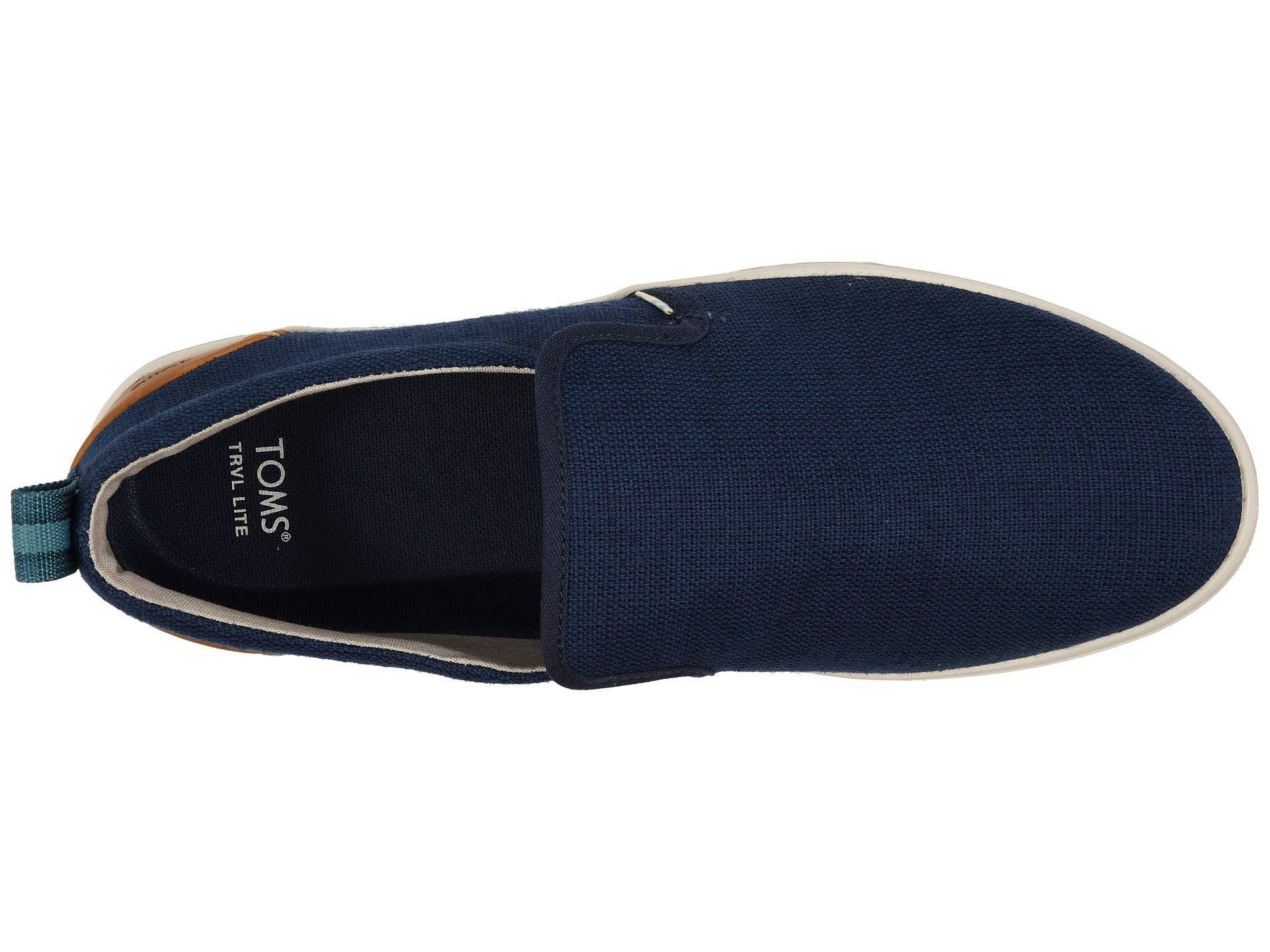 4c160e5698f TOMS - Blue Men s Trvl Lite Canvas Slip-on Sneakers for Men - Lyst. View  fullscreen