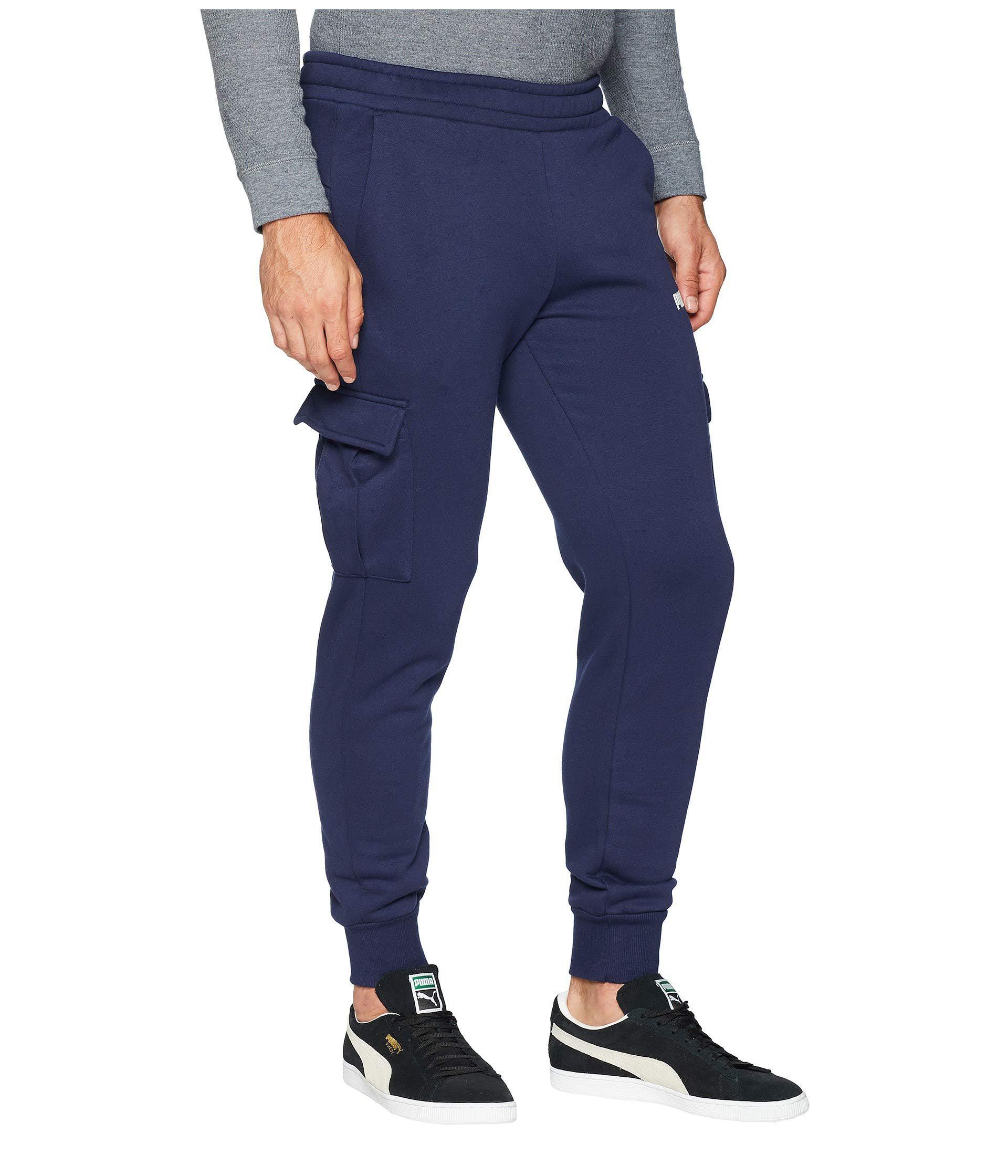 72aceea88baa Lyst - PUMA Ess+ Pocket Pants (medium Gray Heather) Men s Workout in ...