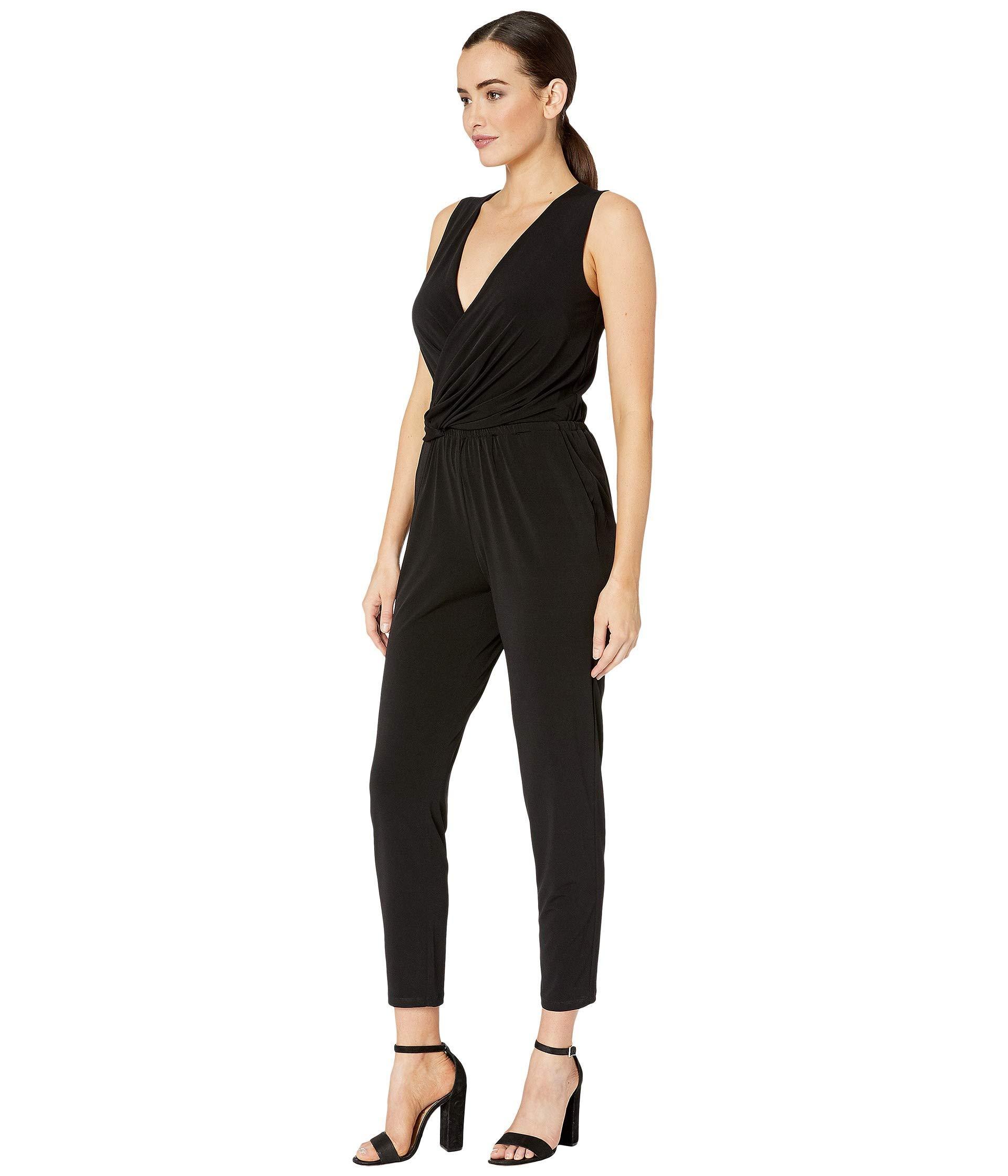 9c7291be8c6c Lyst - MICHAEL Michael Kors Solid Twist Waist Jumpsuit (black) Women s  Jumpsuit   Rompers One Piece in Black