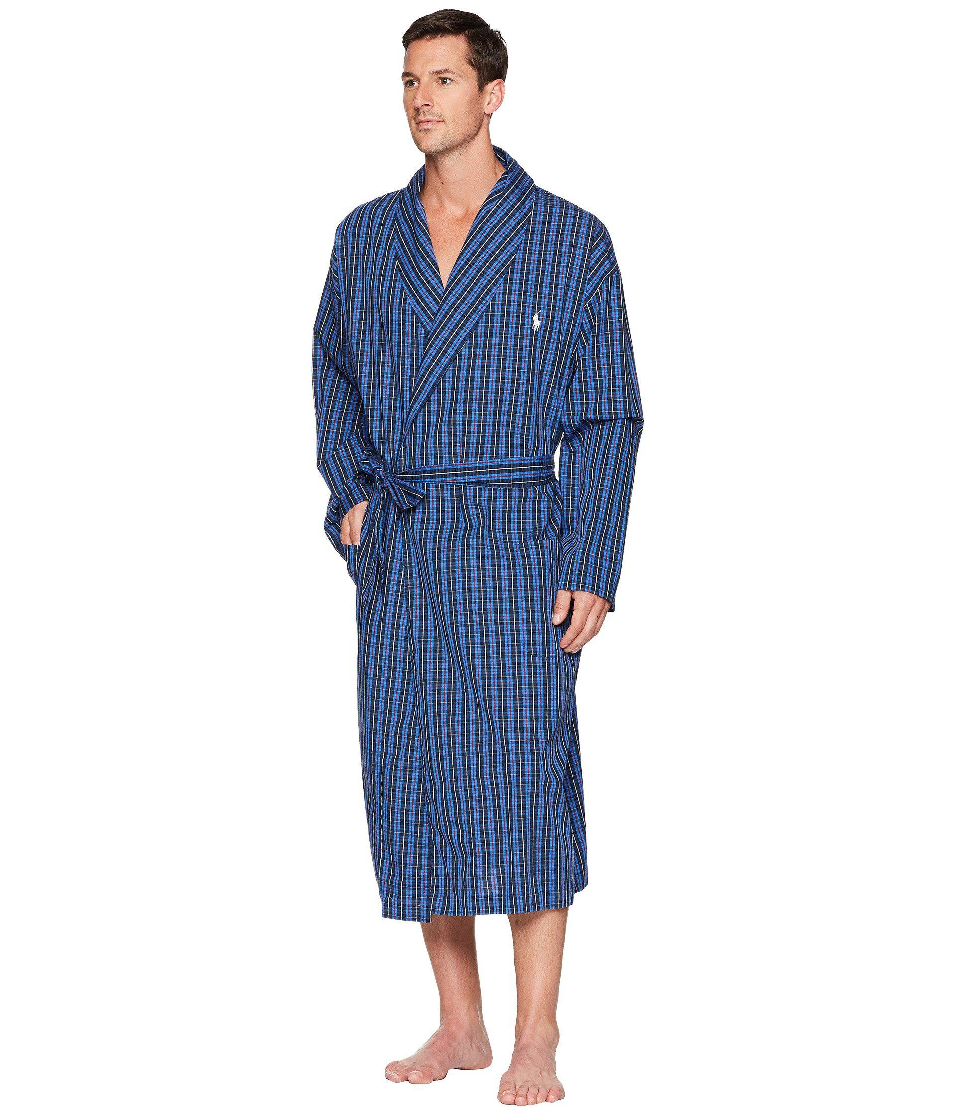 6b53a388a28 ... greece lyst polo ralph lauren woven robe harwick plaid mens robe in  blue for men d3063