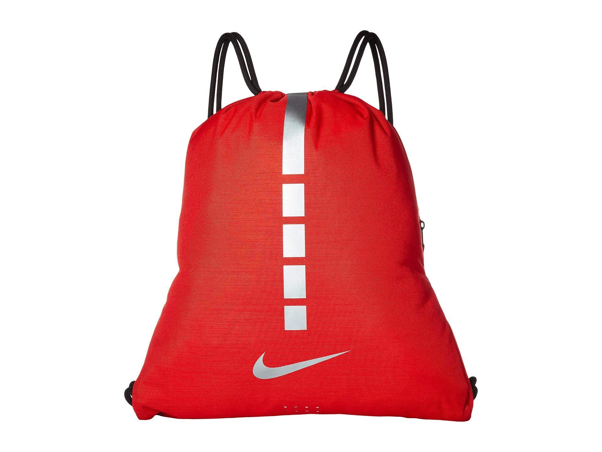 b8546ba1091d Lyst - Nike Hoops Elite Gymsack - 2.0 (university Red black metallic ...
