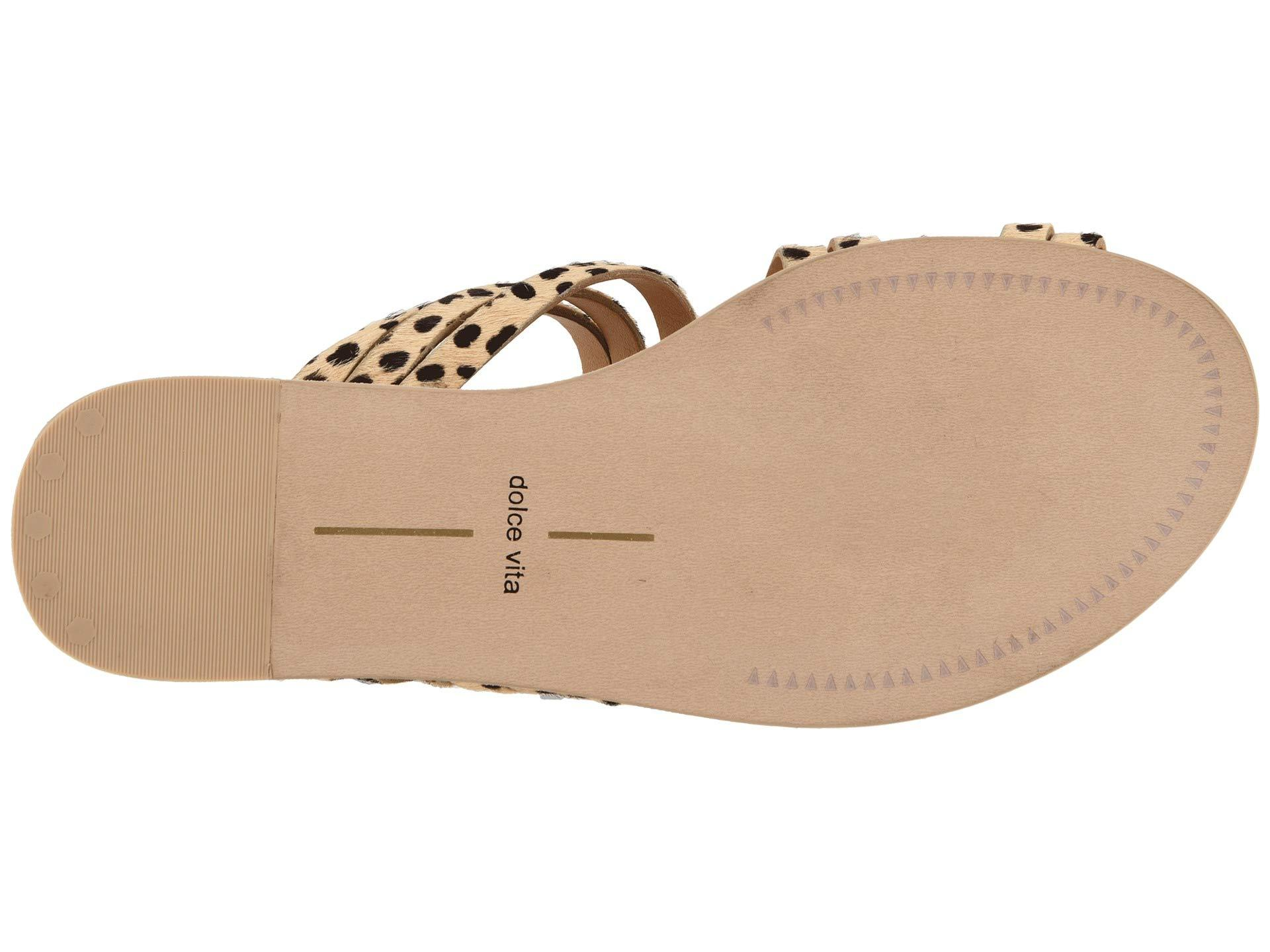 39a55796390fe Lyst - Dolce Vita Nelly (white Multi Leather) Women s Sandals in Brown