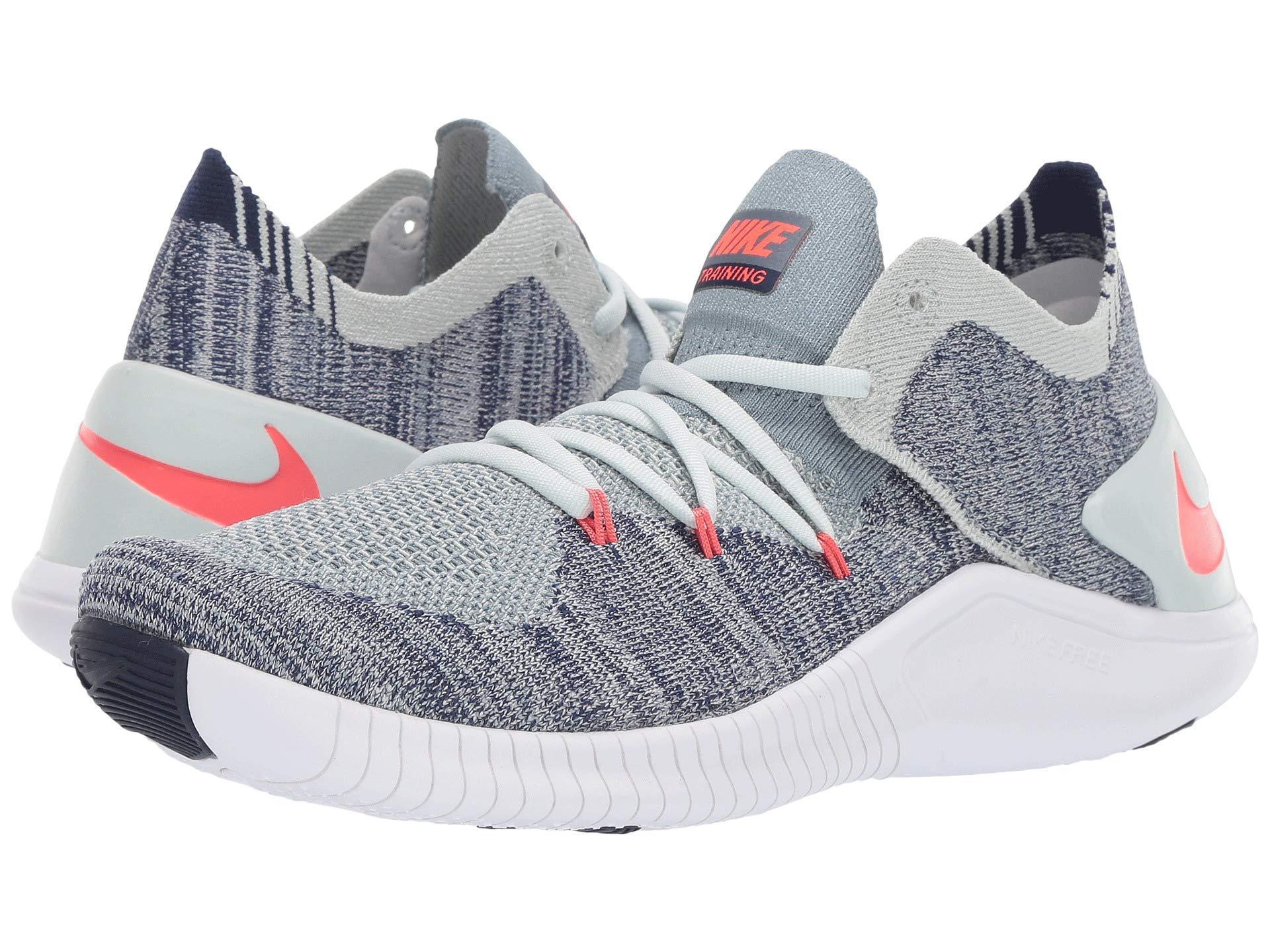 c1d53da4bce9 Nike. Gray Free Tr Flyknit 3 (barely Grey ember Glow blue Void white) Women s  Cross Training Shoes