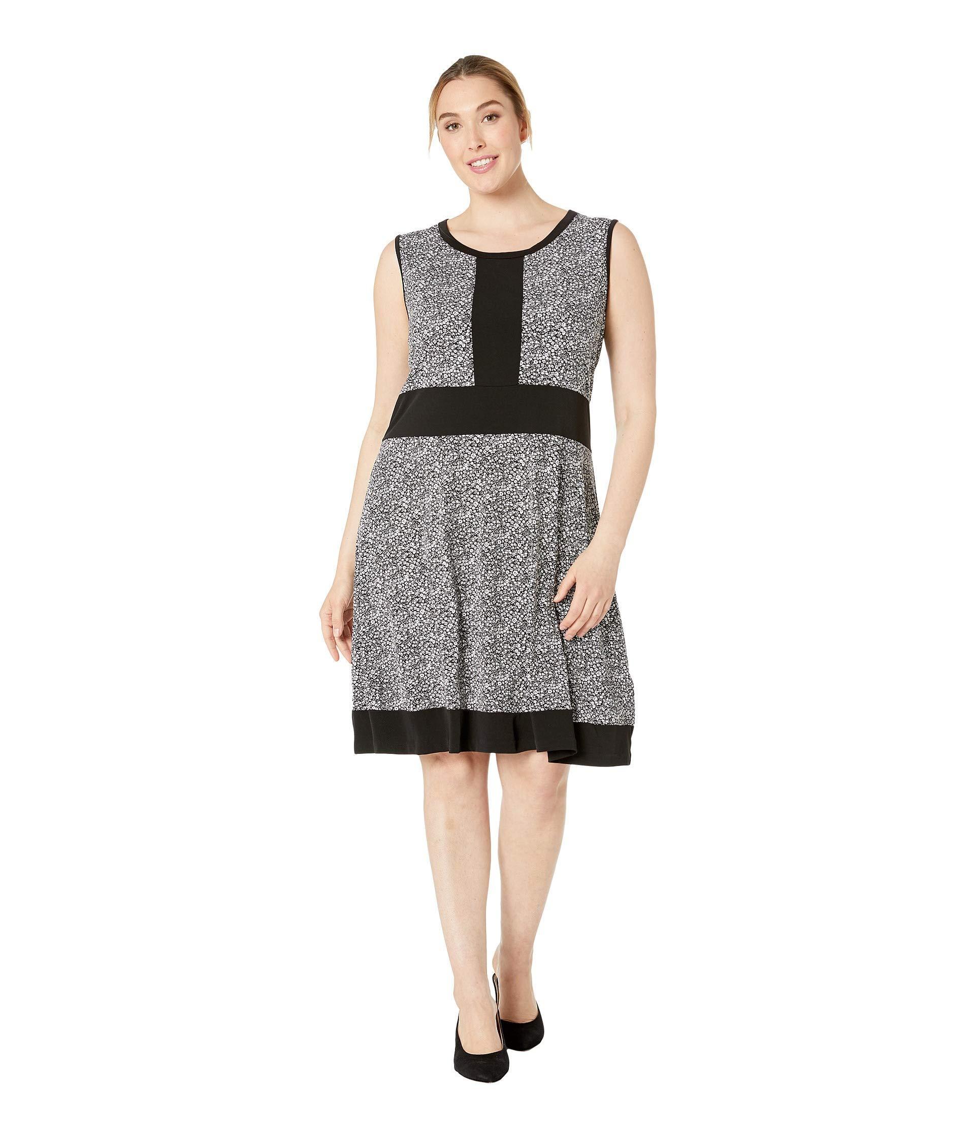 5a024ef872ebf Lyst - MICHAEL Michael Kors Plus Size Spring Sleeveless Border Dress ...