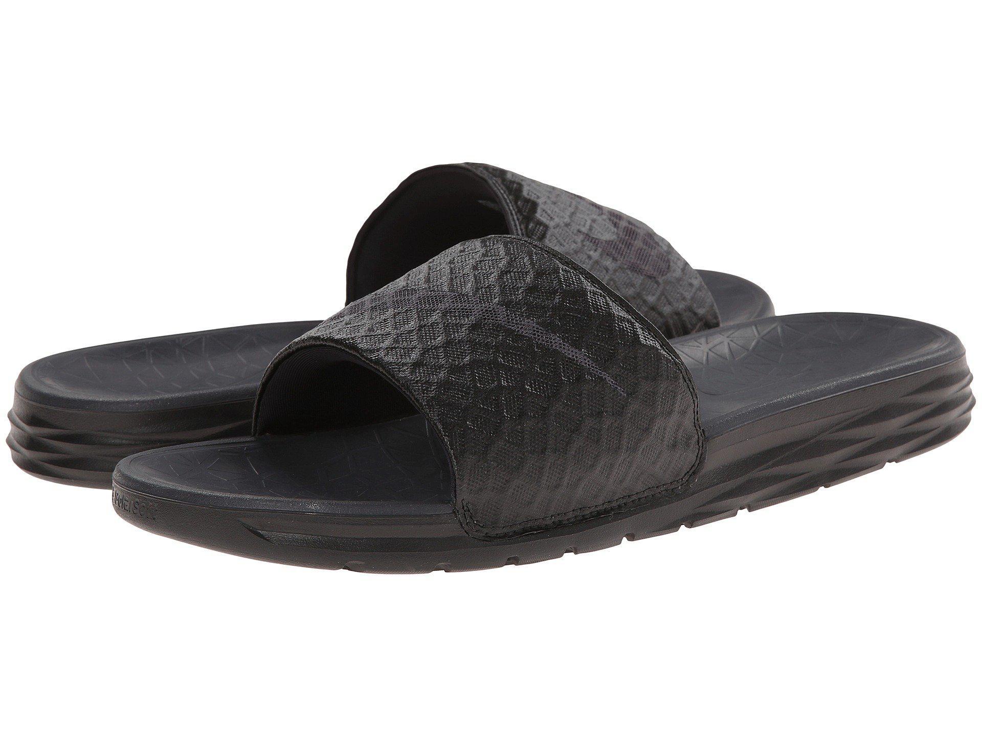Nike. Women's Black Benassi Solarsoft Slide 2