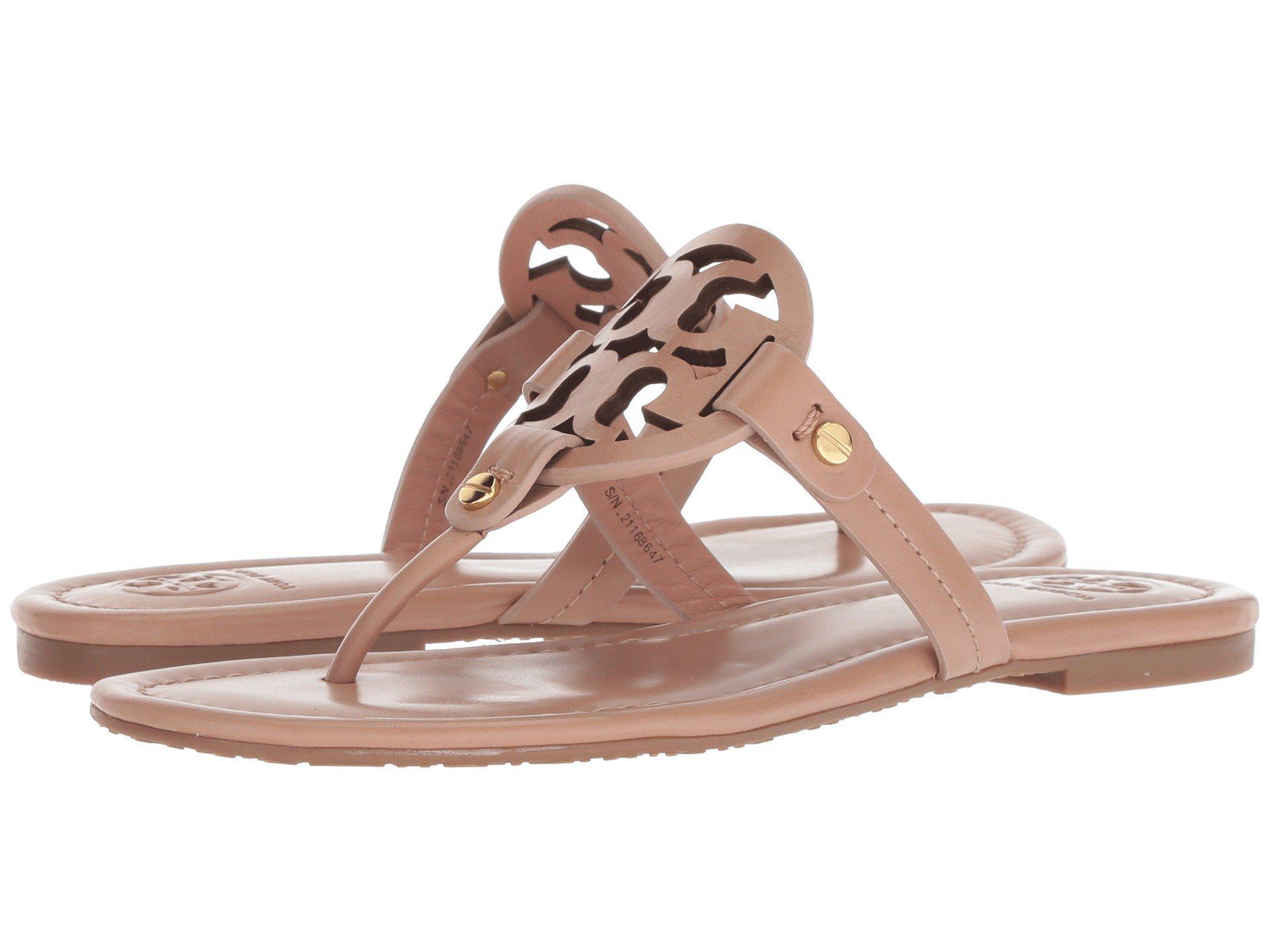 3f060ab2e Lyst - Tory Burch Miller Flip Flop Sandal (light Makeup) Women s Shoes