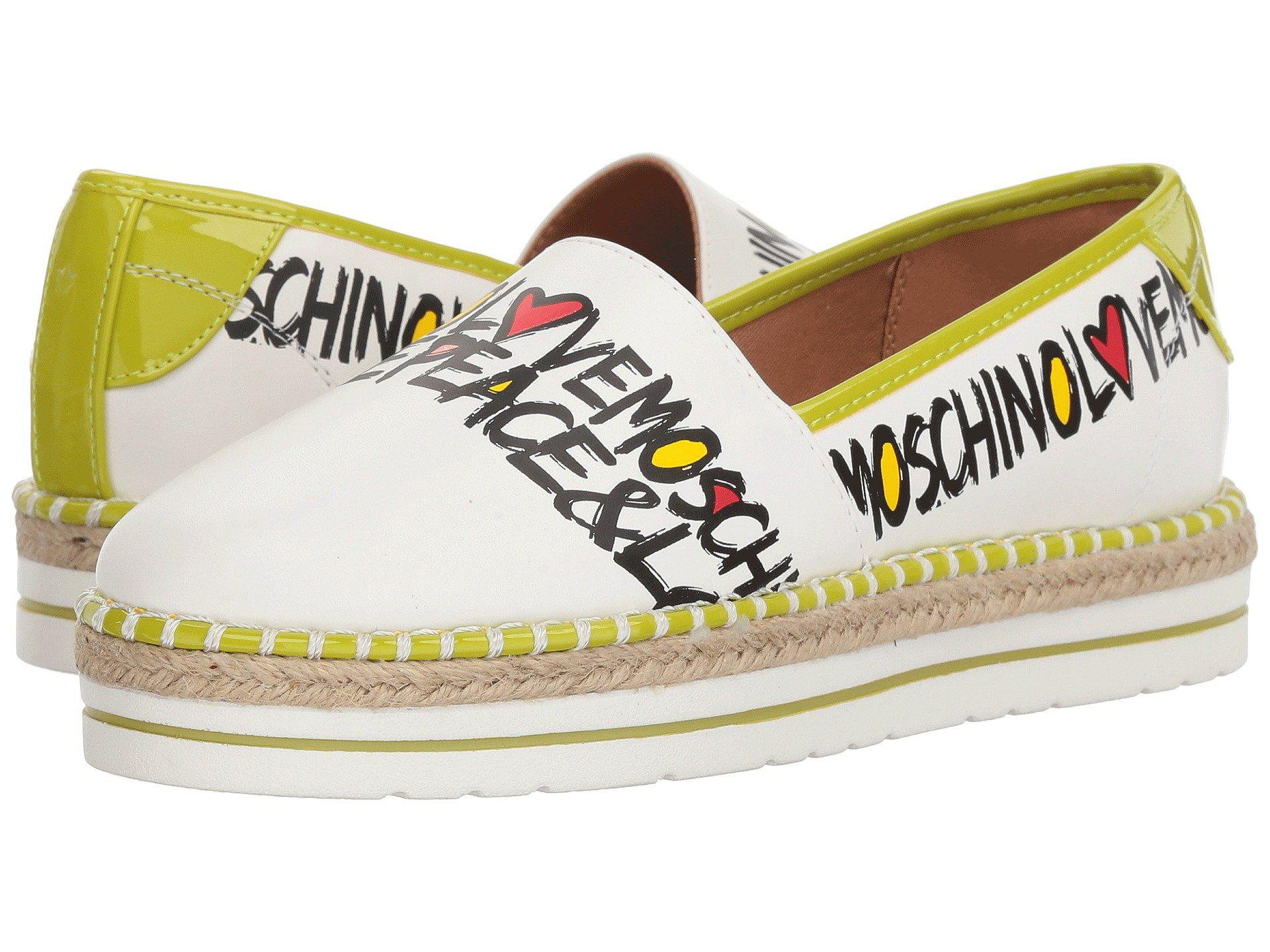 d65ec30ba Love Moschino Peace & Love Espadrille in White - Lyst