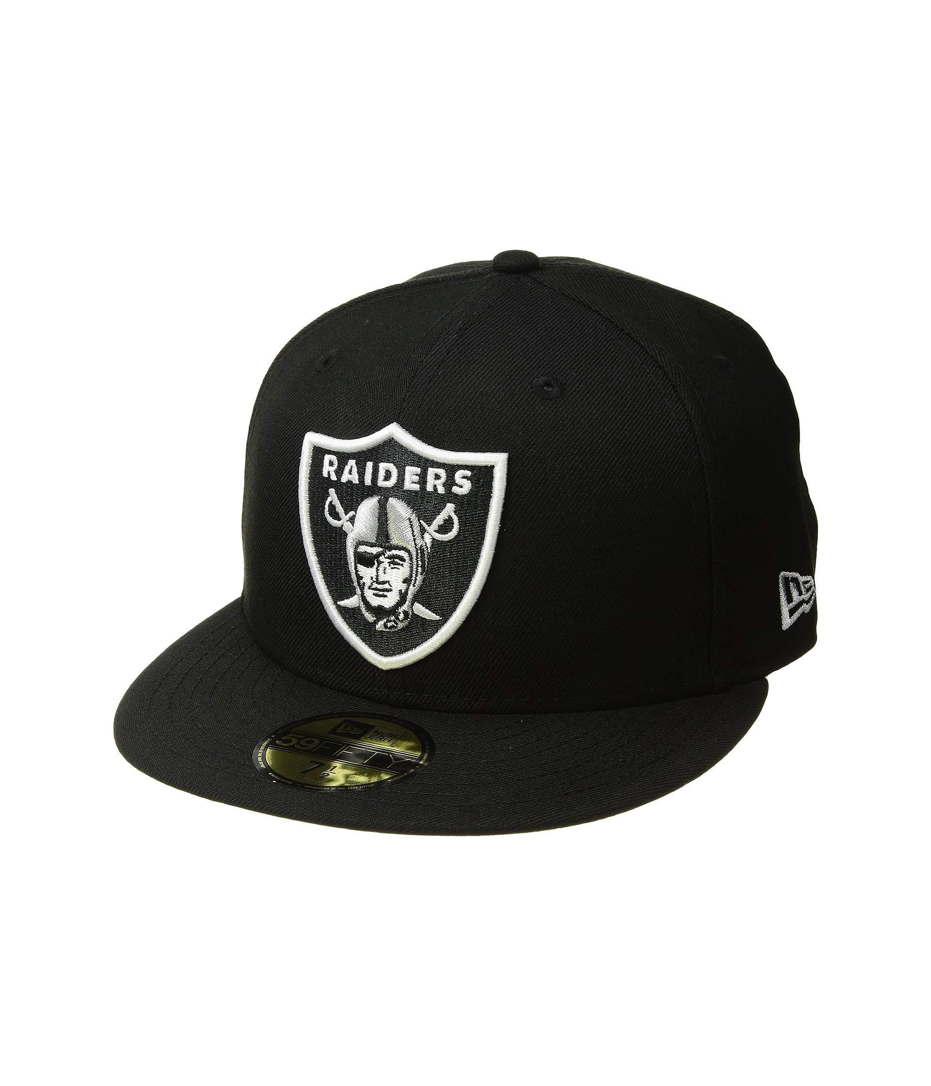 8bda86ee Lyst - KTZ 59fifty(r) Oakland Raiders (black) Baseball Caps in Black ...