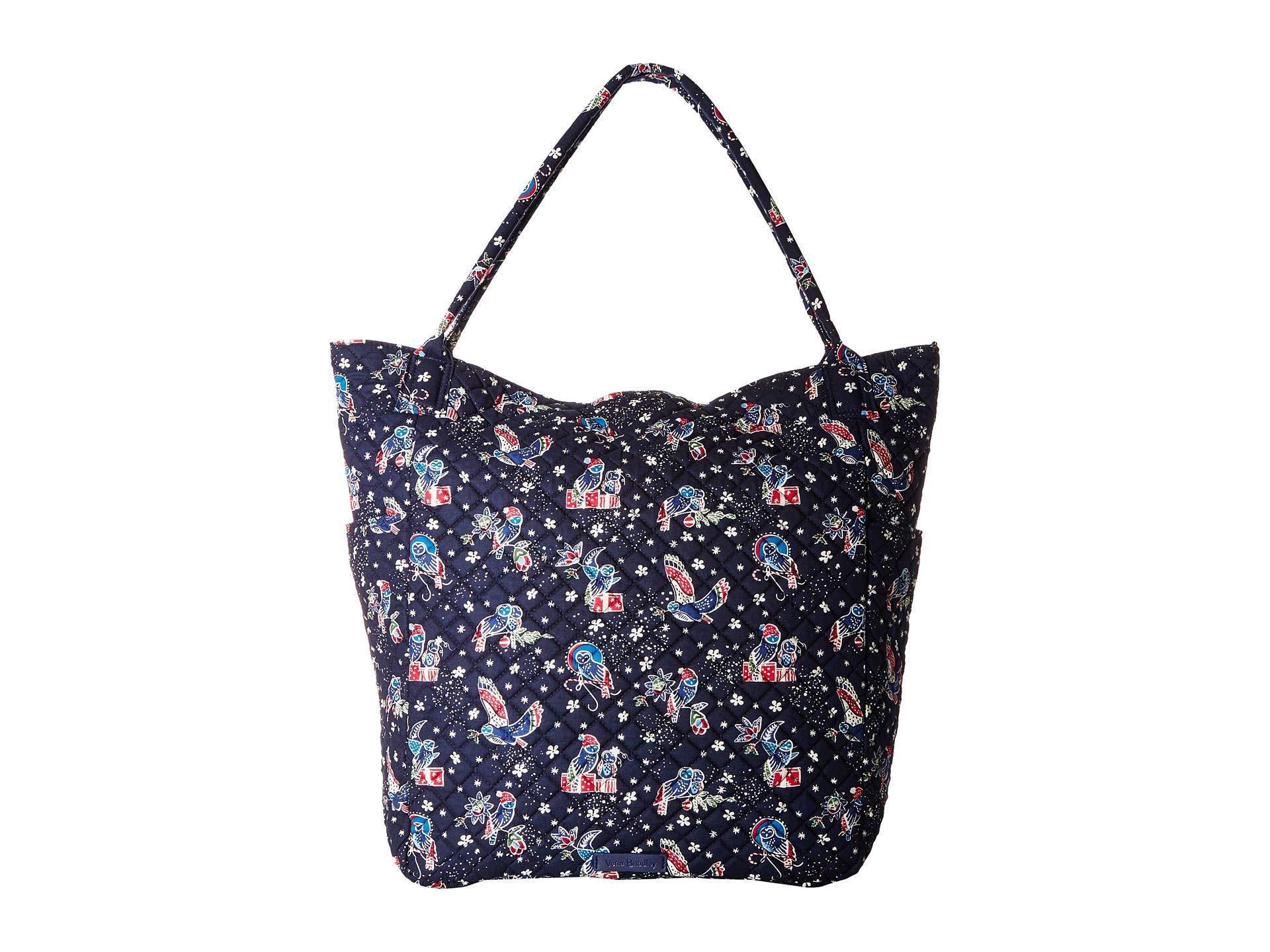 f0e006b313c3 Lyst - Vera Bradley Bright Tote (holiday Owls) Tote Handbags in Blue
