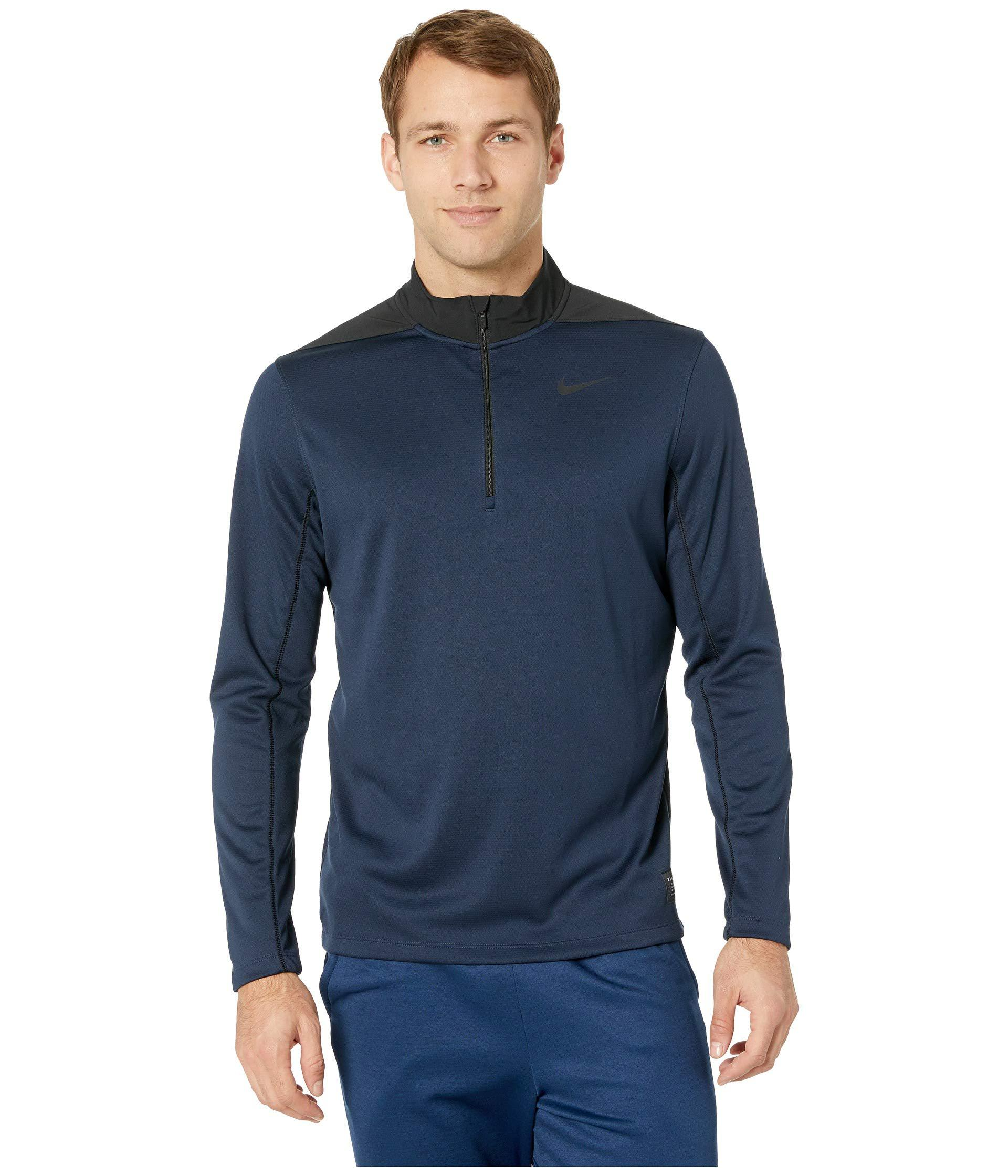 a267a3989 Lyst - Nike Dry Top 1/2 Zip Core (black/midnight Spruce/black/black ...