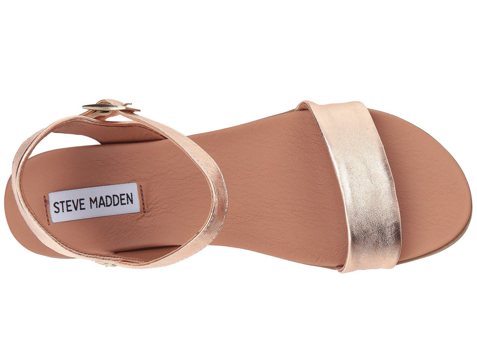 827ceb5866d Steve Madden - Multicolor Dina Sandal (black Leather) Women s Sandals -  Lyst. View fullscreen