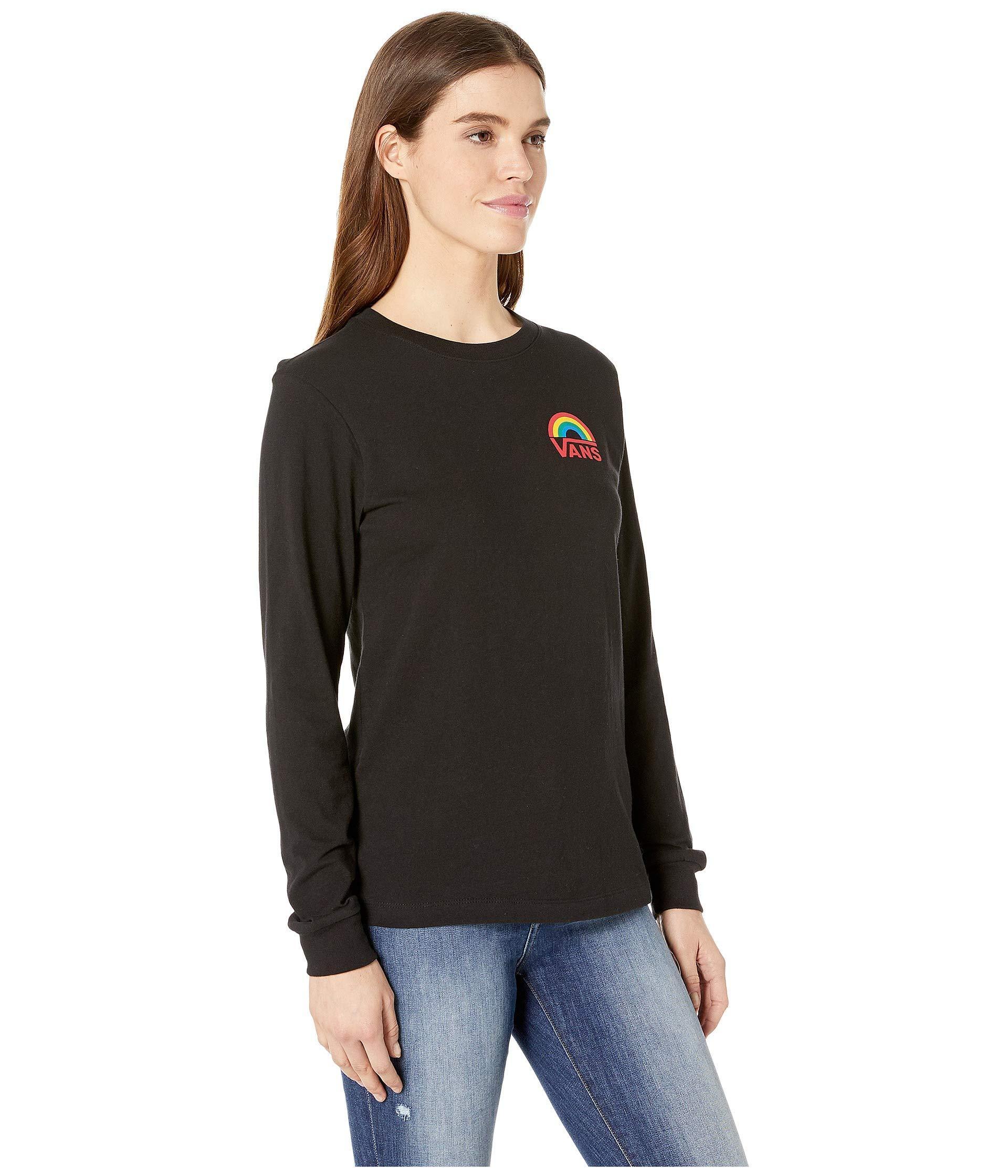 af51a65917b7 Lyst - Vans Make It Rainbow Long Sleeve (black) Women s Clothing in ...