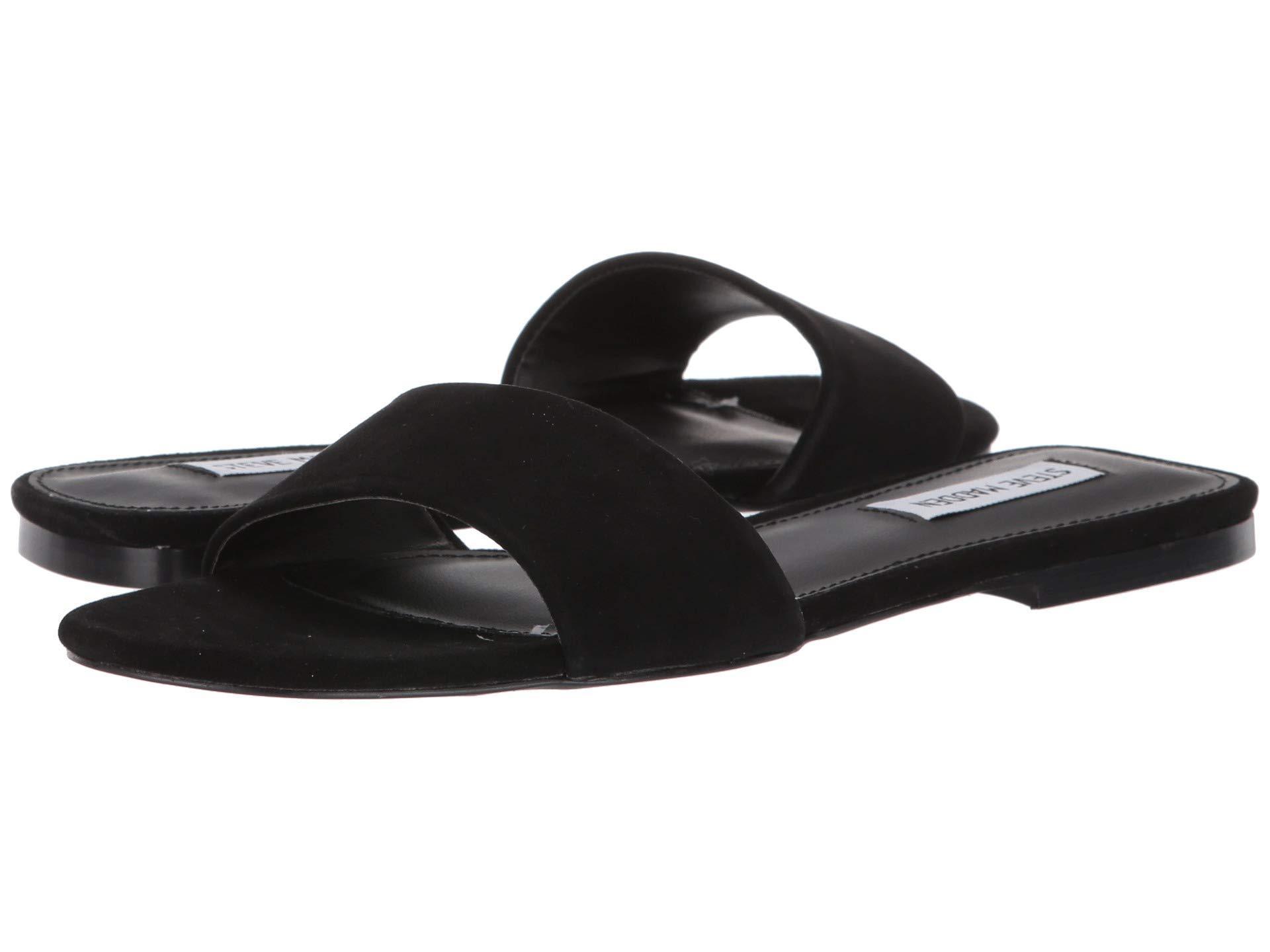 5d3096c5f7 Lyst - Steve Madden Bev Flat Sandal (leopard) Women's Shoes in Black
