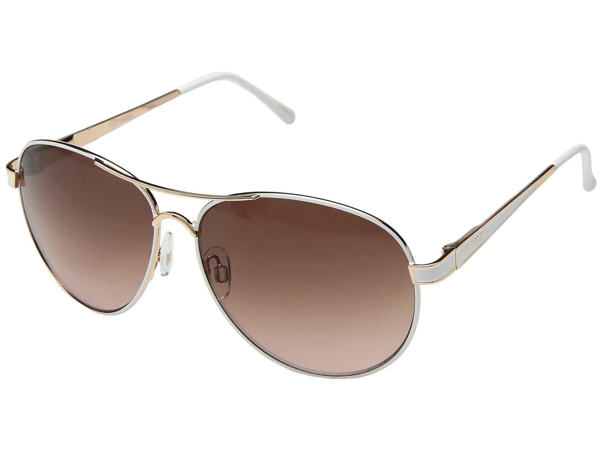 d809ae9ab7 Lyst - Steve Madden Lauren (rose Gold white) Fashion Sunglasses