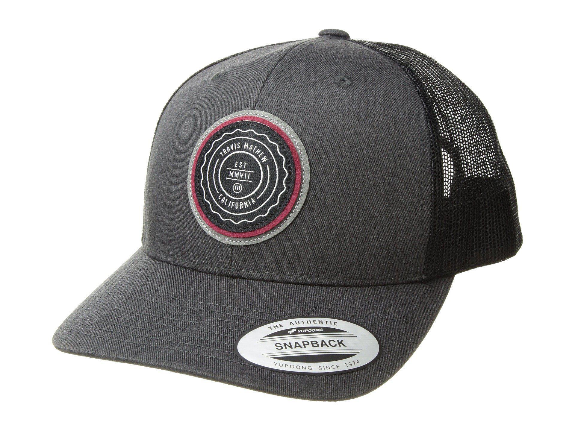 Lyst - Travis Mathew Trip L (heather Grey Pinstripe) Caps in Gray ... e68346201e01