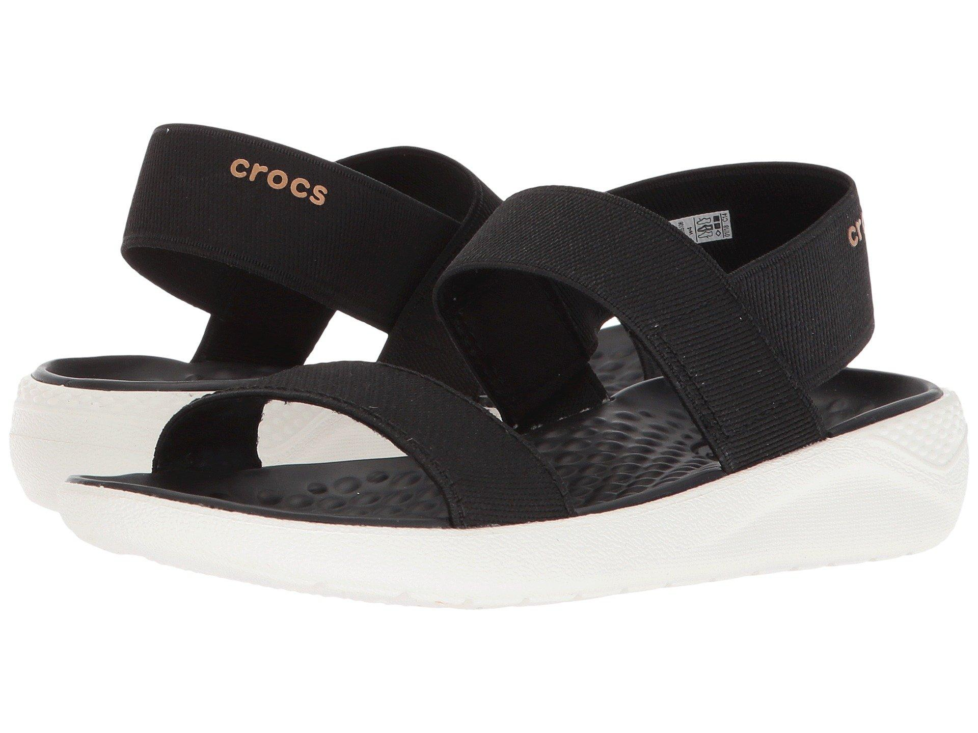 36c4a25bb835 Lyst - Crocs™ Literide Sandal (black black) Women s Shoes in Black