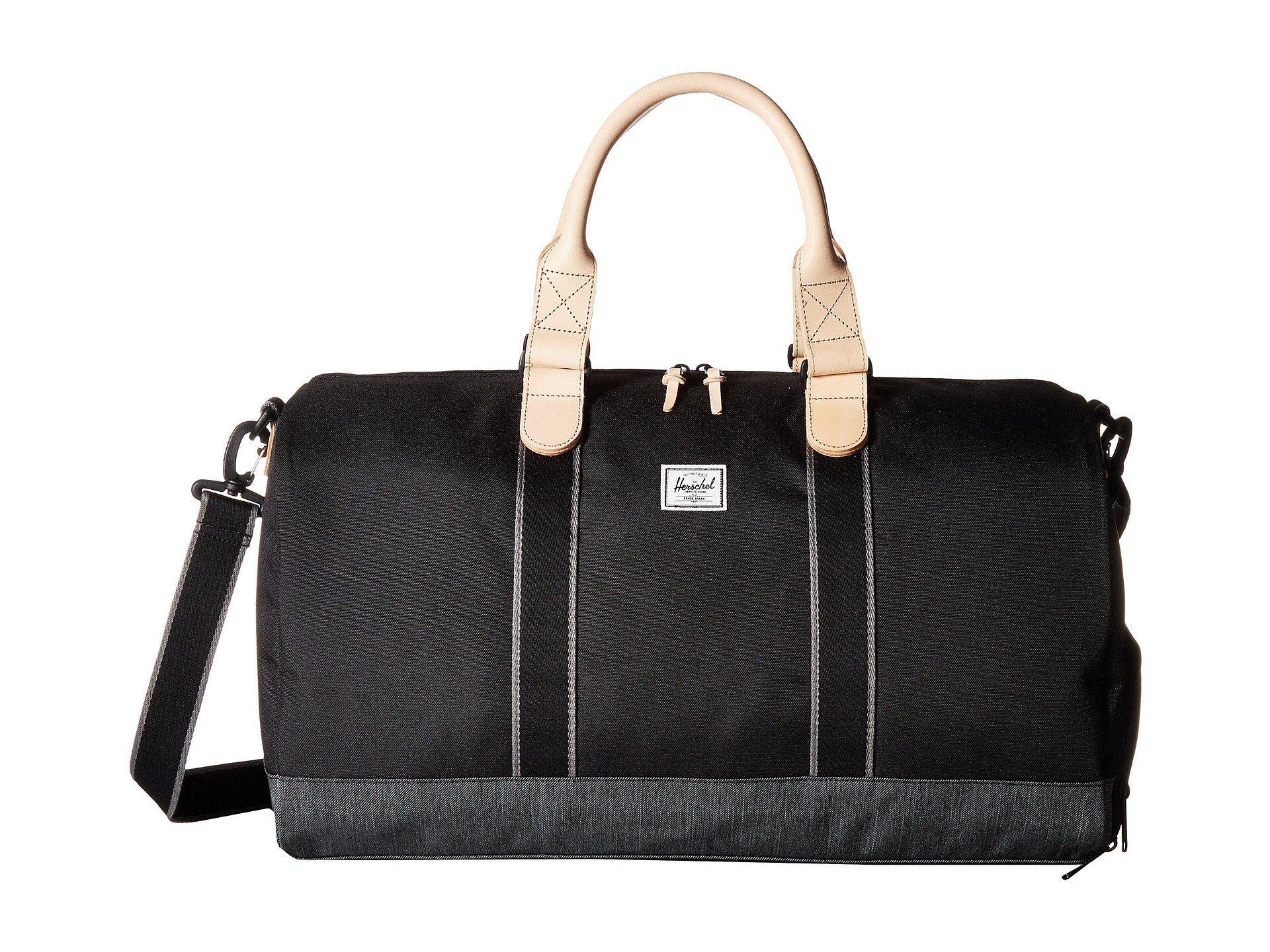 Herschel Supply Co. Men s Black Novel (light Grey Crosshatch) Duffel Bags 99b439a20fd91