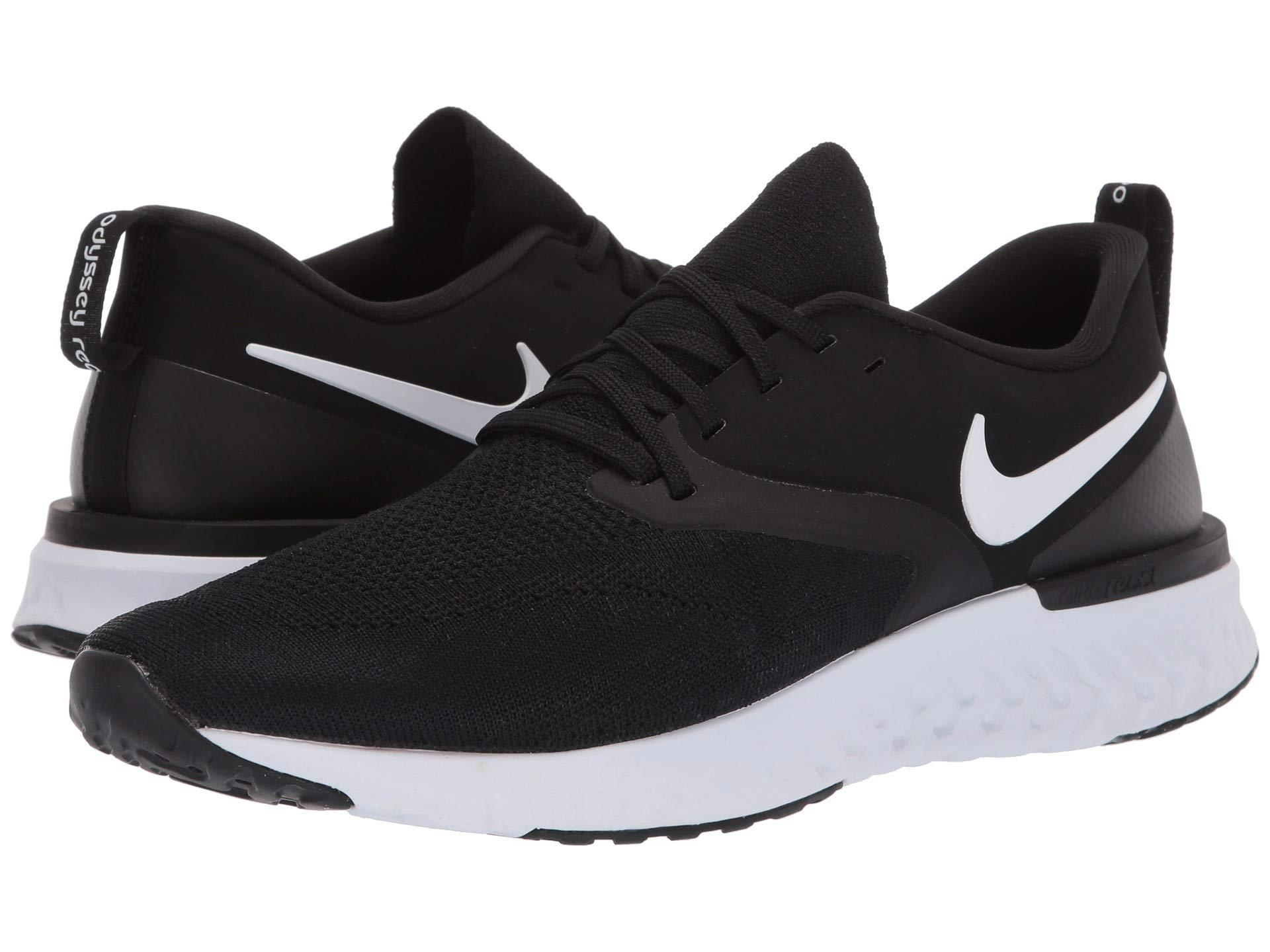 sale retailer 32d45 d8664 Nike. Black Odyssey React Flyknit 2 (indigo Force white blue Void red  Orbit) Men s Running Shoes