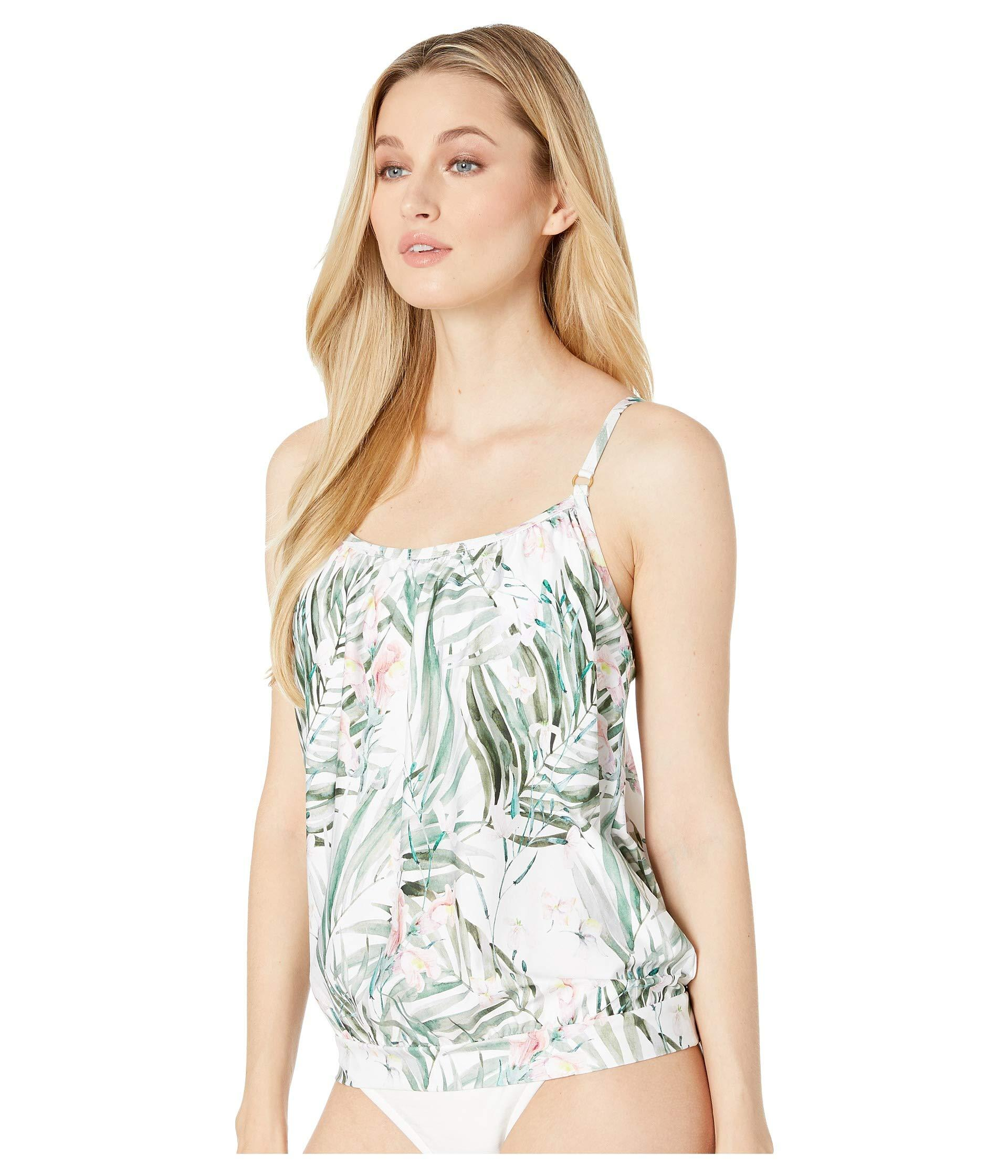 8400ed0bafc24 Lyst - Athena Painted Nature Blouson Tankini With Removable Soft Cups (multi)  Women s Swimwear in Green
