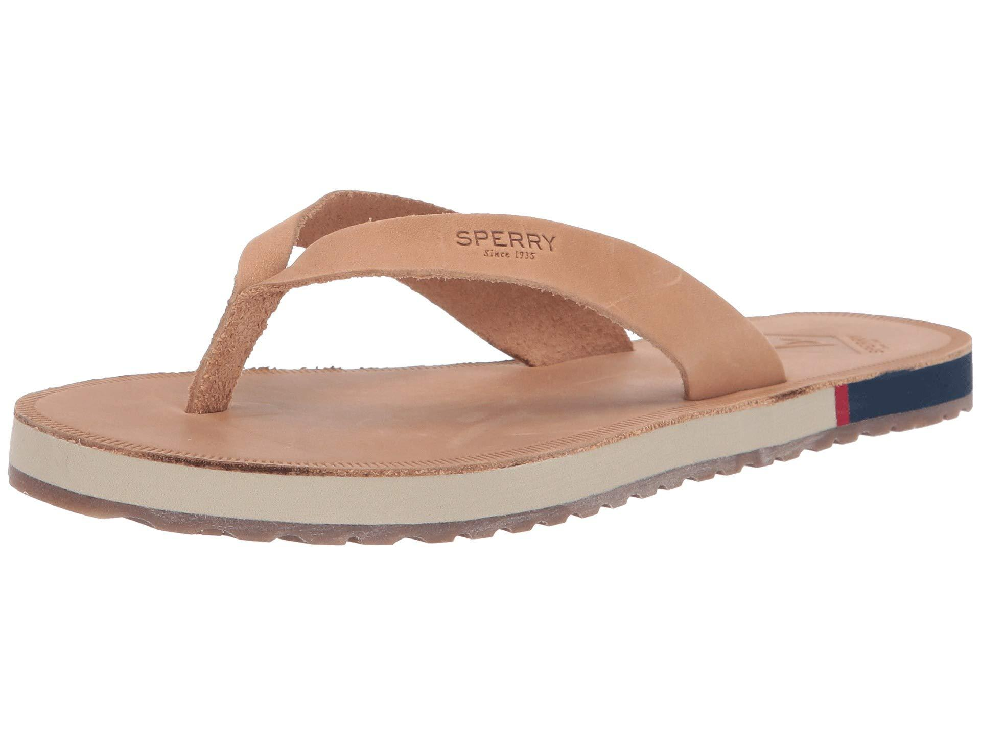 20bdbe847 Sperry Top-Sider. Brown Wharf Thong Leather (light Peanut) Women s Sandals
