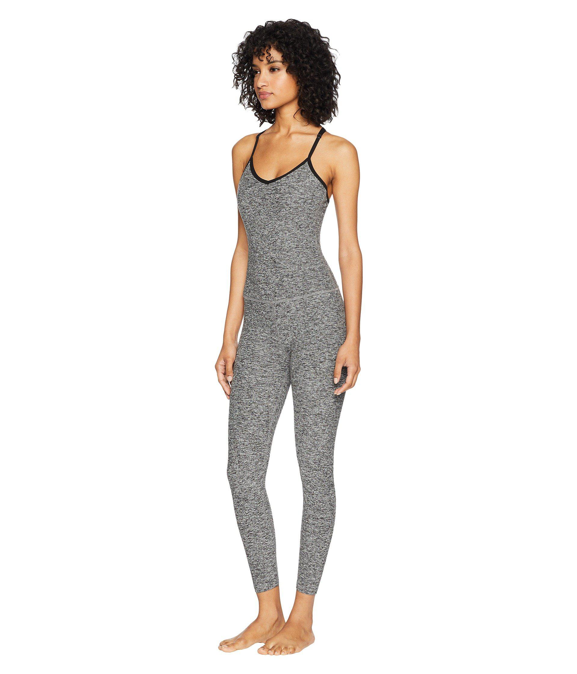 c101a6635d57 Lyst - Beyond Yoga Spacedye Elevation Capris Bodysuit (black white) Women s  Jumpsuit   Rompers One Piece in Black