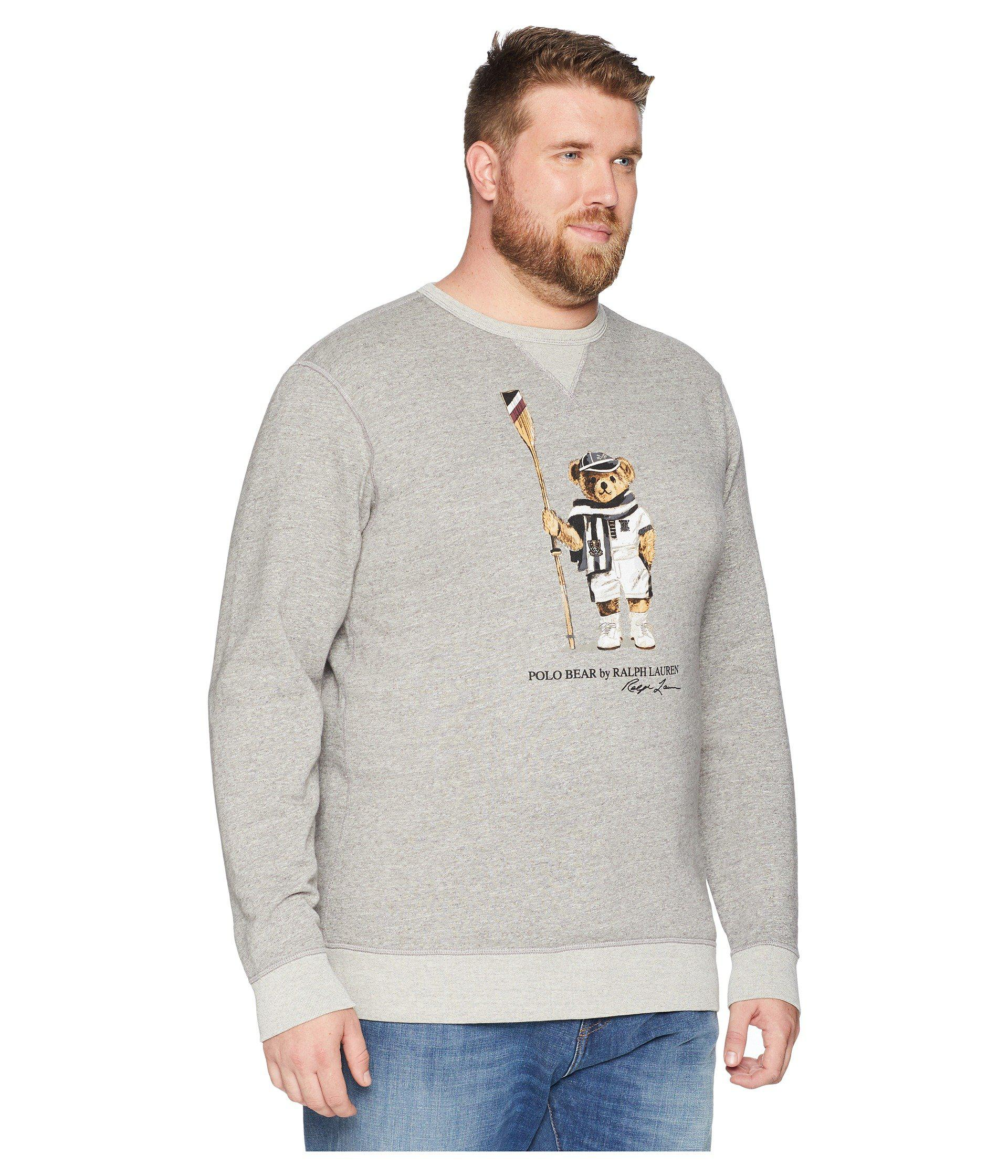 10a86033 Polo Ralph Lauren Big Tall Vintage Polo Bear Fleece Sweatshirt ...