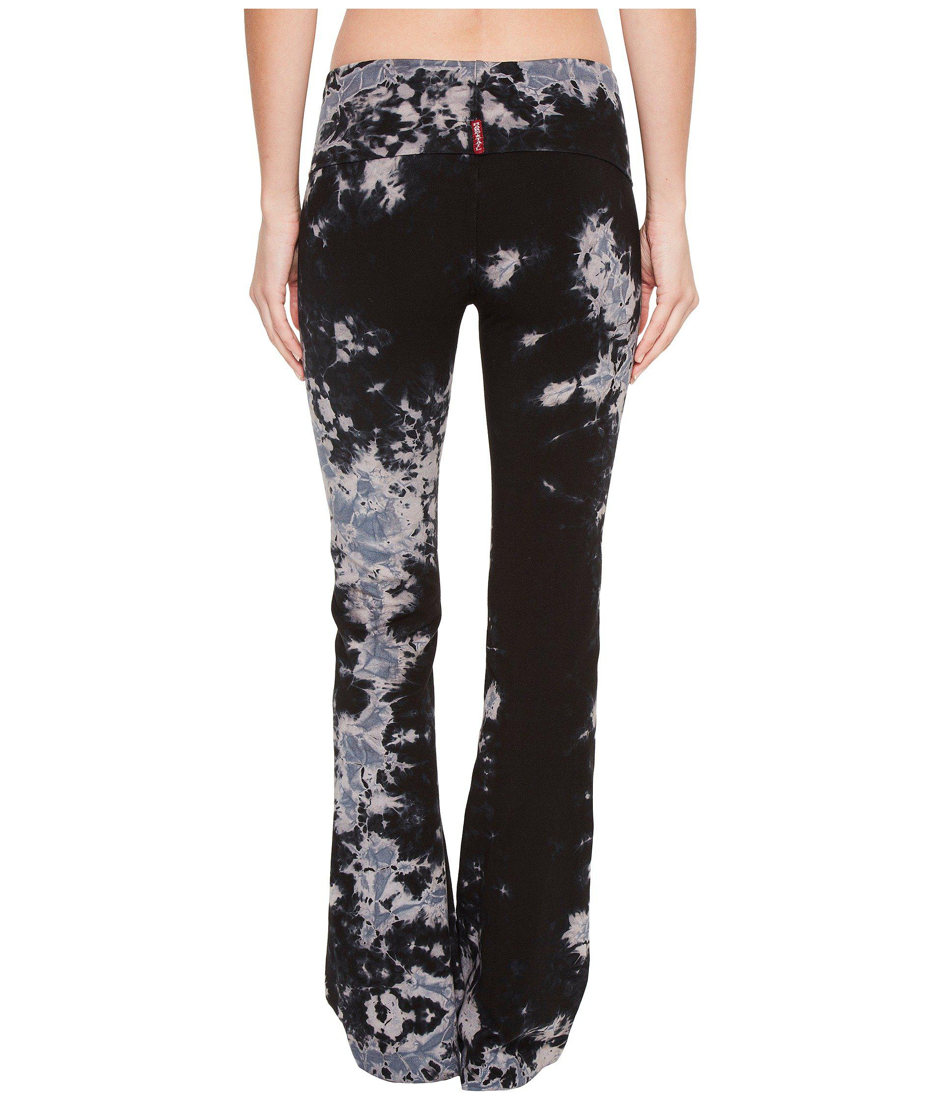 1be7ad5e962d1 Hard Tail - Black Rolldown Bootleg Flare Pants (ombre Wash 6) Women's  Casual Pants. View fullscreen