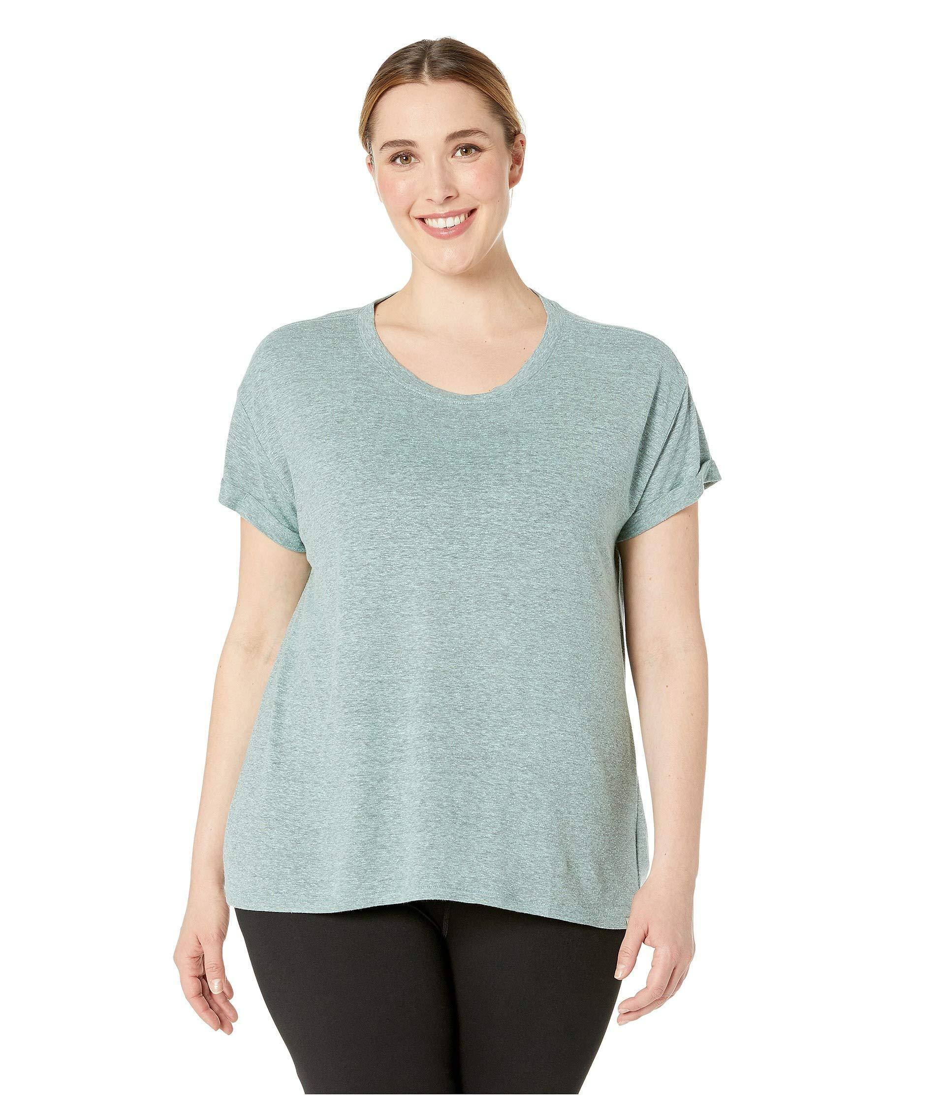 401dab647 Lyst - Prana Plus Size Cozy Up T-shirt (iced Aqua Heather) Women's T ...