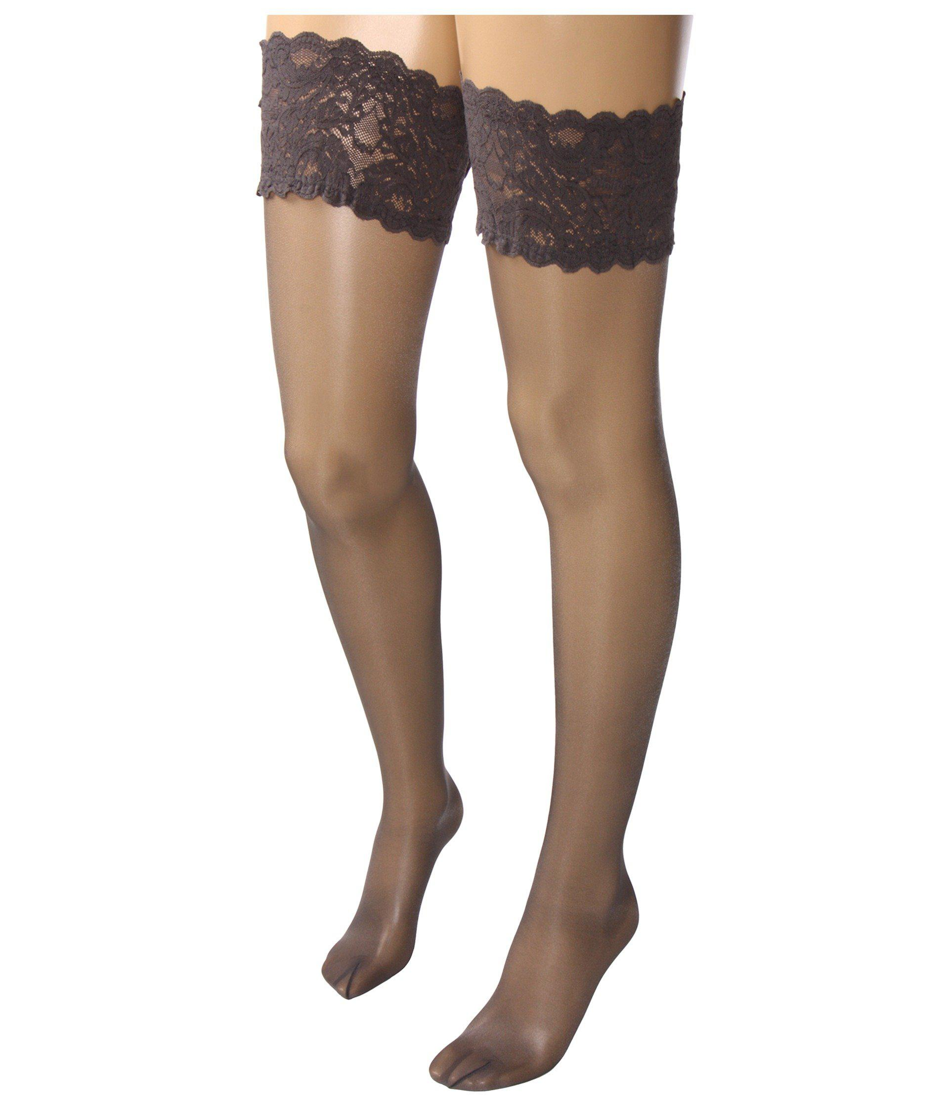 f1b7b0309 Wolford Satin Touch 20 Stay-up Thigh Highs (cosmetic) Women s Thigh High  Socks Shoes in Gray - Lyst