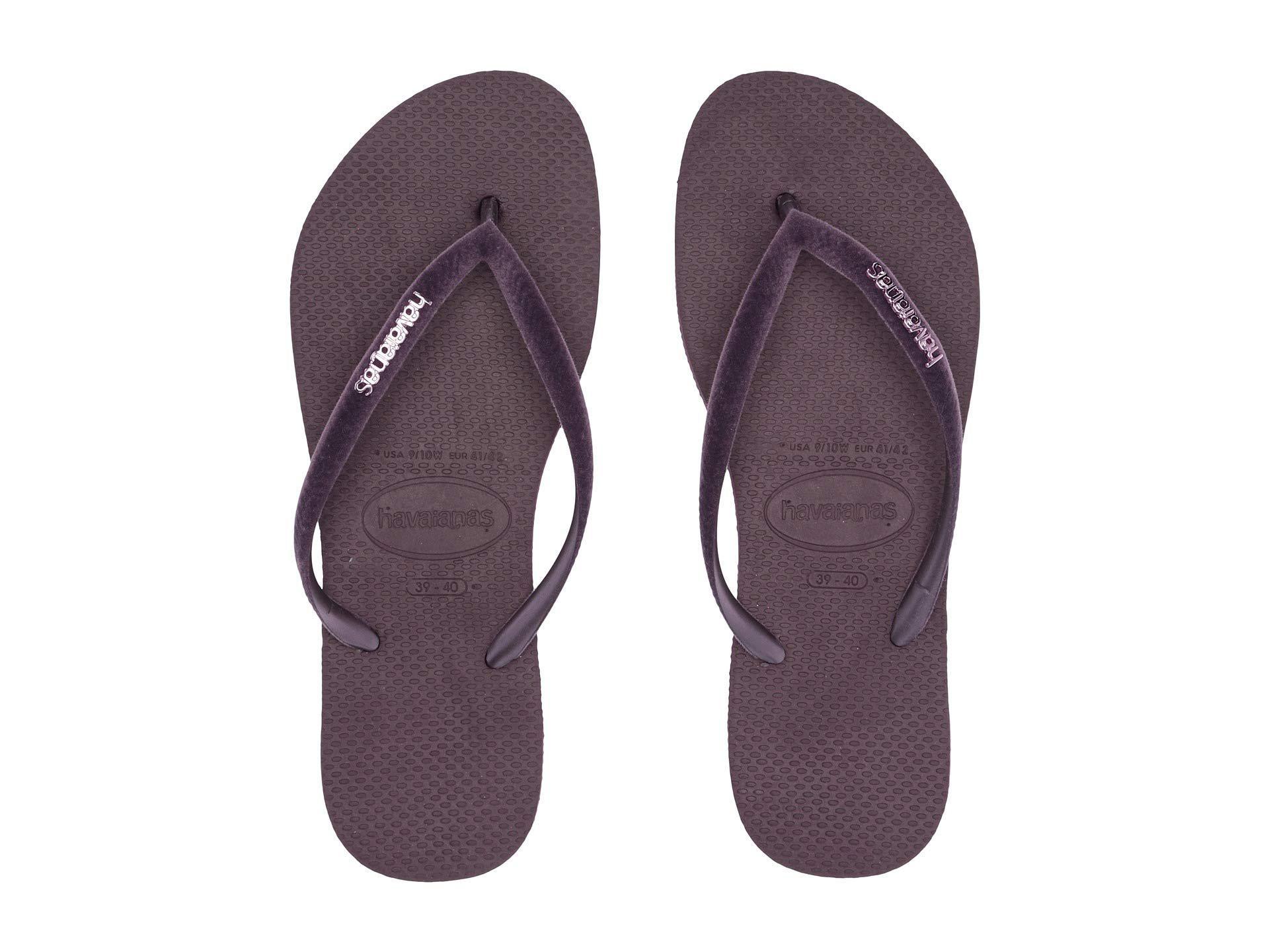 18beb0f30230 Havaianas - Blue Slim Velvet Flip-flops (aubergine) Women s Sandals - Lyst.  View fullscreen
