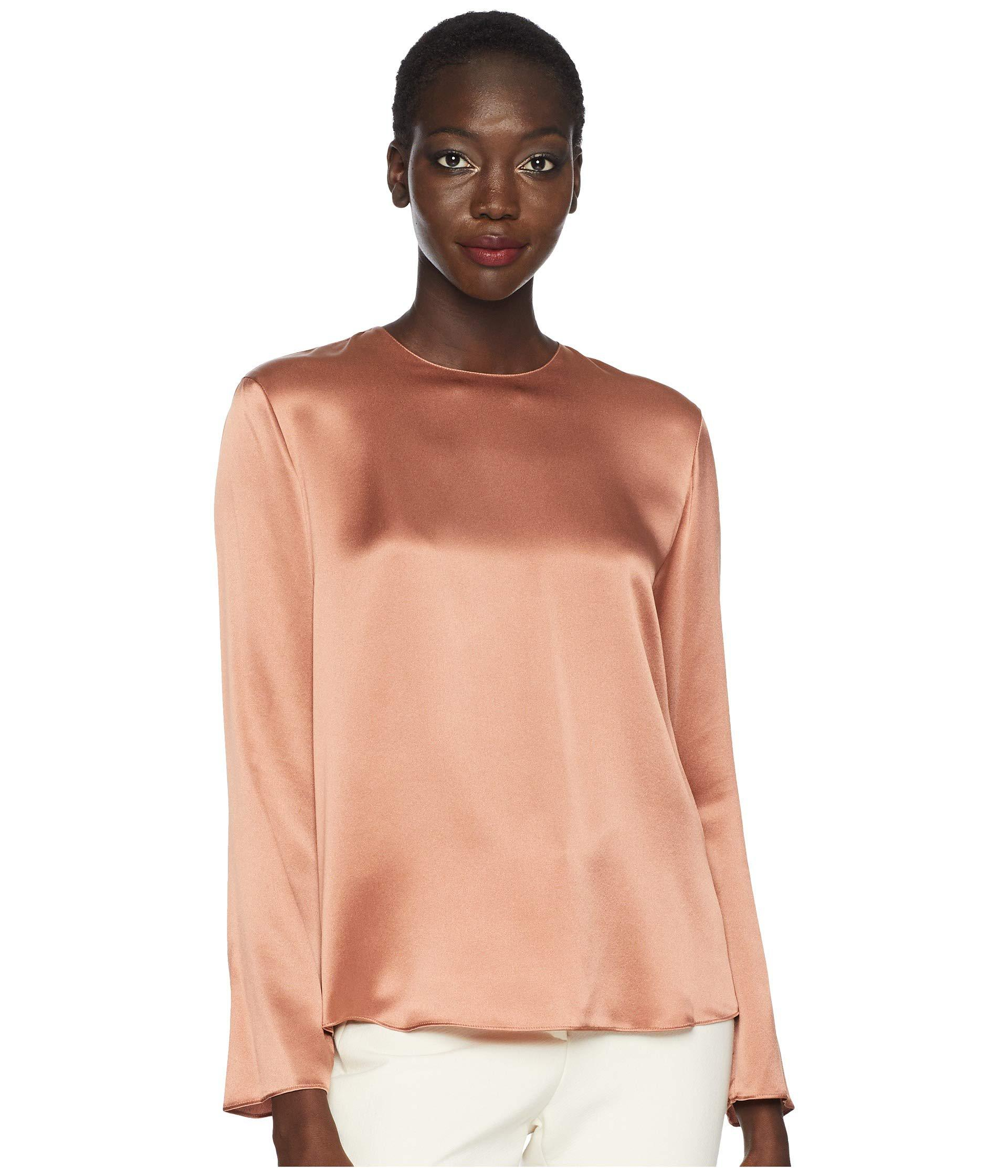 225655347cf Lyst - Vince Tie Back Blouse (vintage Rose) Women s Clothing in Pink