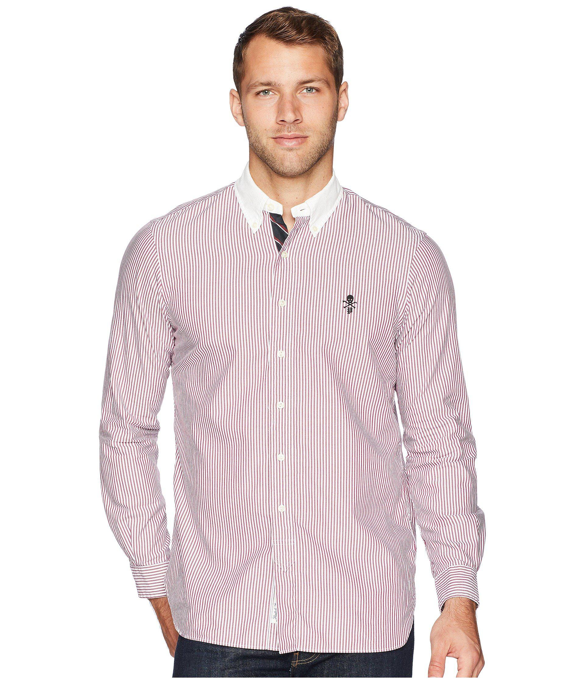 64e64fd8aaf63 Polo Ralph Lauren. Purple Lightweight Oxford Striped Sport Shirt ...